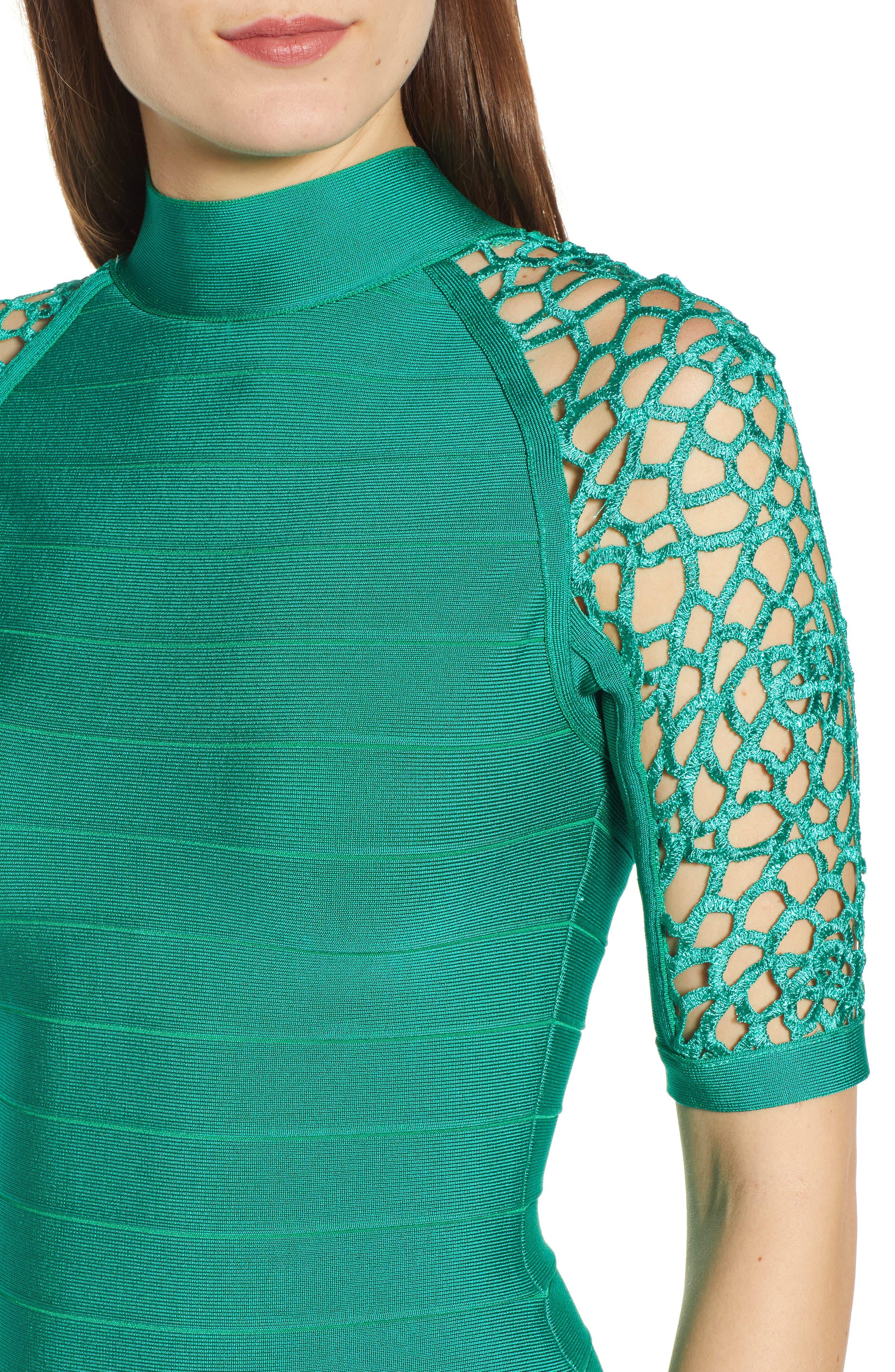 SENTIMENTAL NY,                             Bandage Body-Con Dress,                             Alternate thumbnail 4, color,                             GREEN