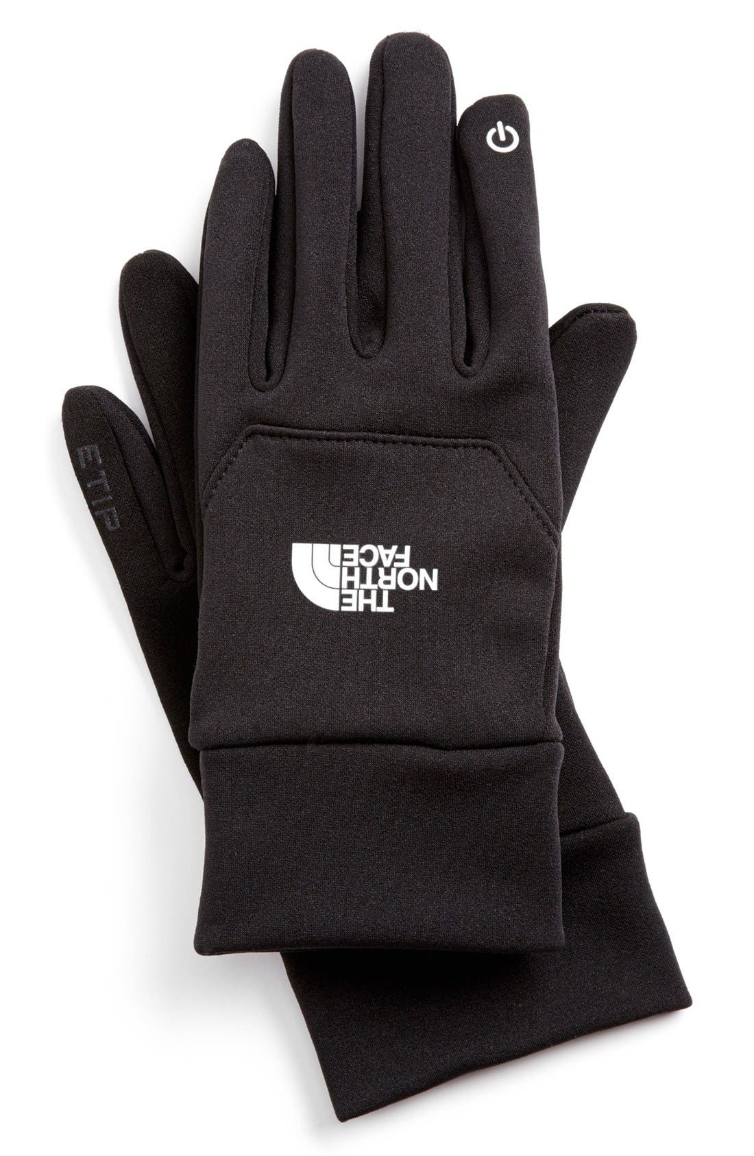 THE NORTH FACE,                             'eTip' Gloves,                             Main thumbnail 1, color,                             001