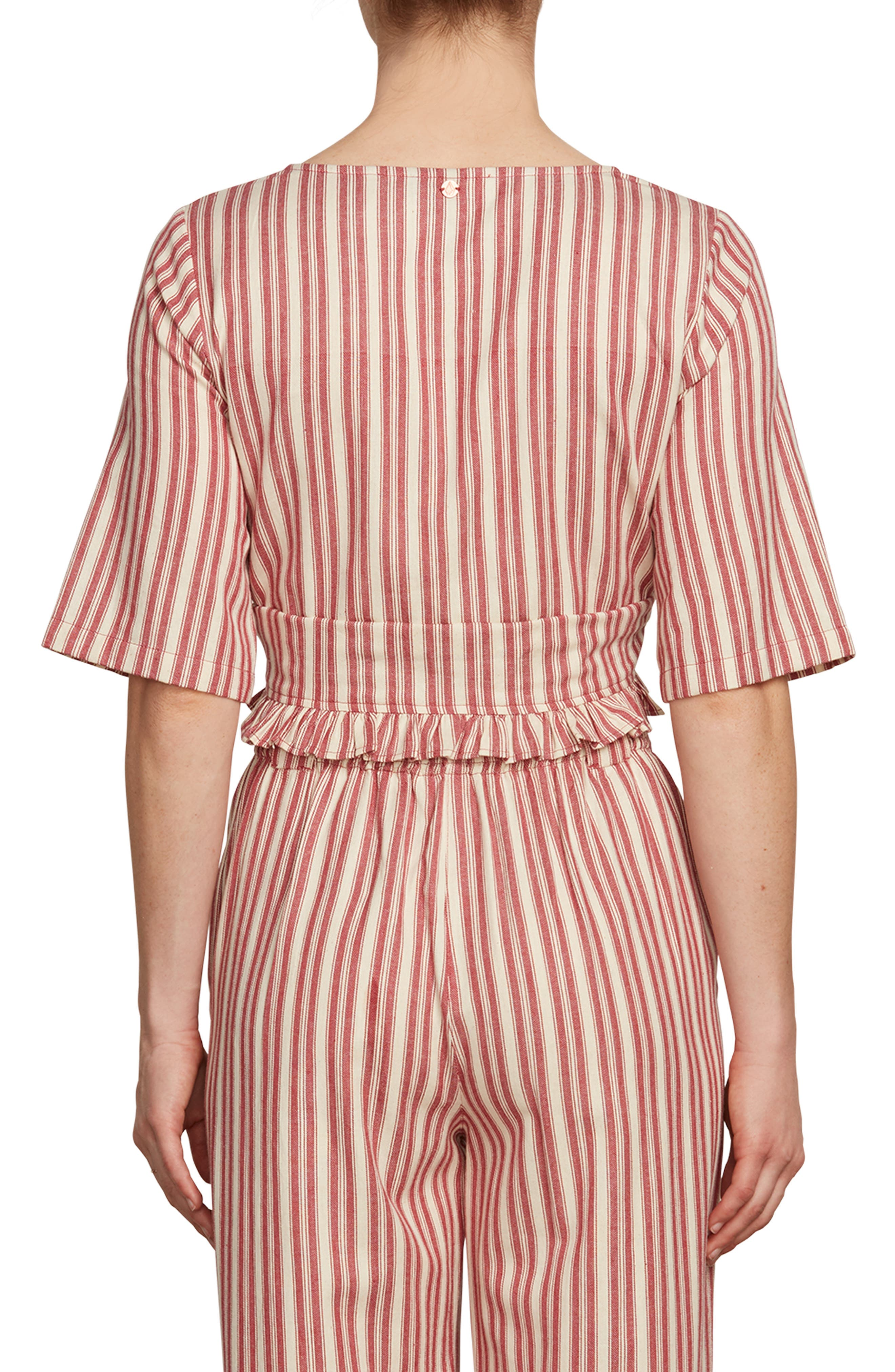 Pull Here Stripe Crop Top,                             Alternate thumbnail 2, color,                             600