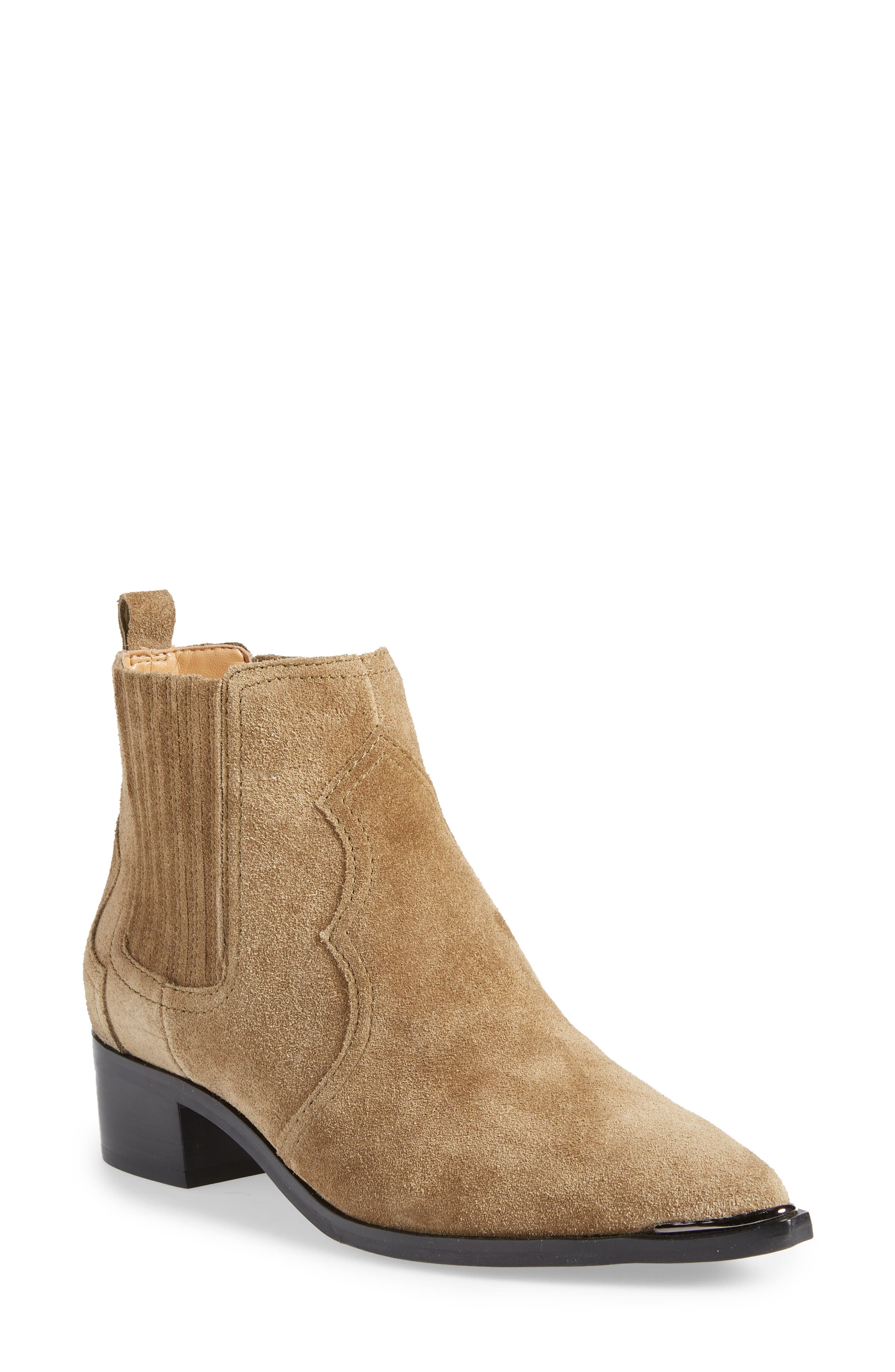 Yohani Bootie,                             Main thumbnail 1, color,                             TAUPE SUEDE