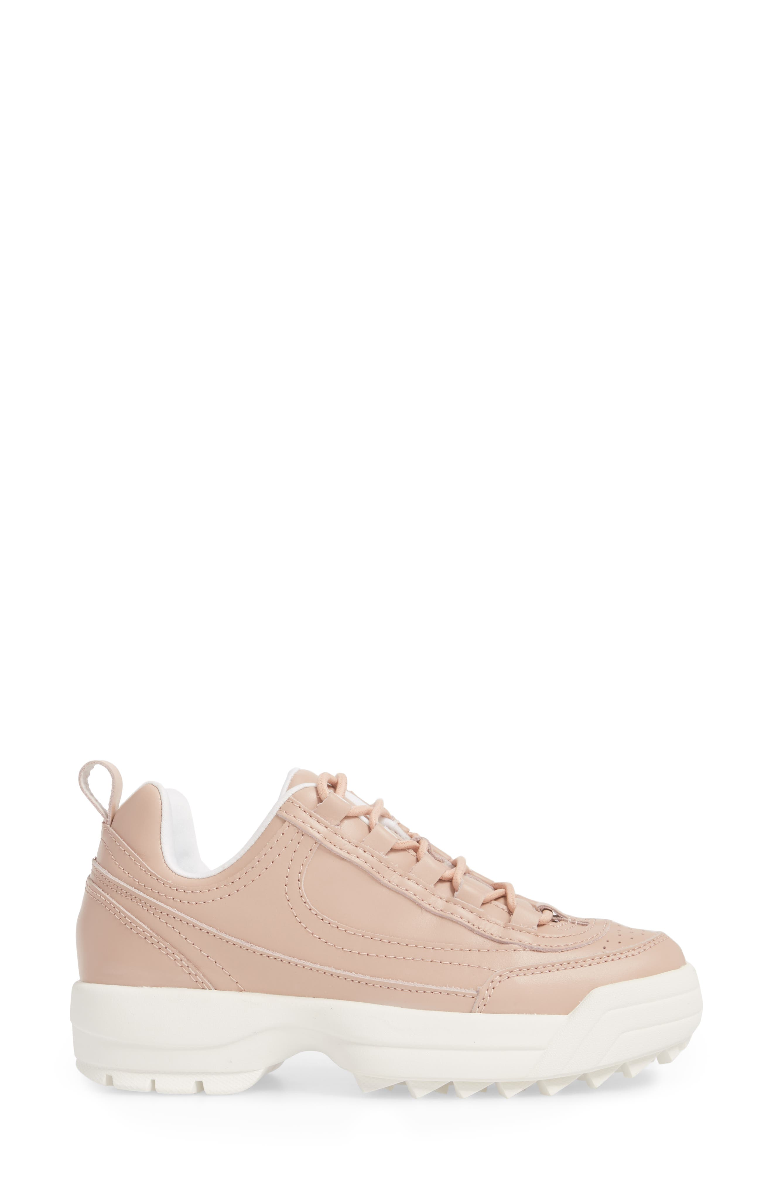 Sidekick Platform Sneaker,                             Alternate thumbnail 3, color,                             NUDE LEATHER