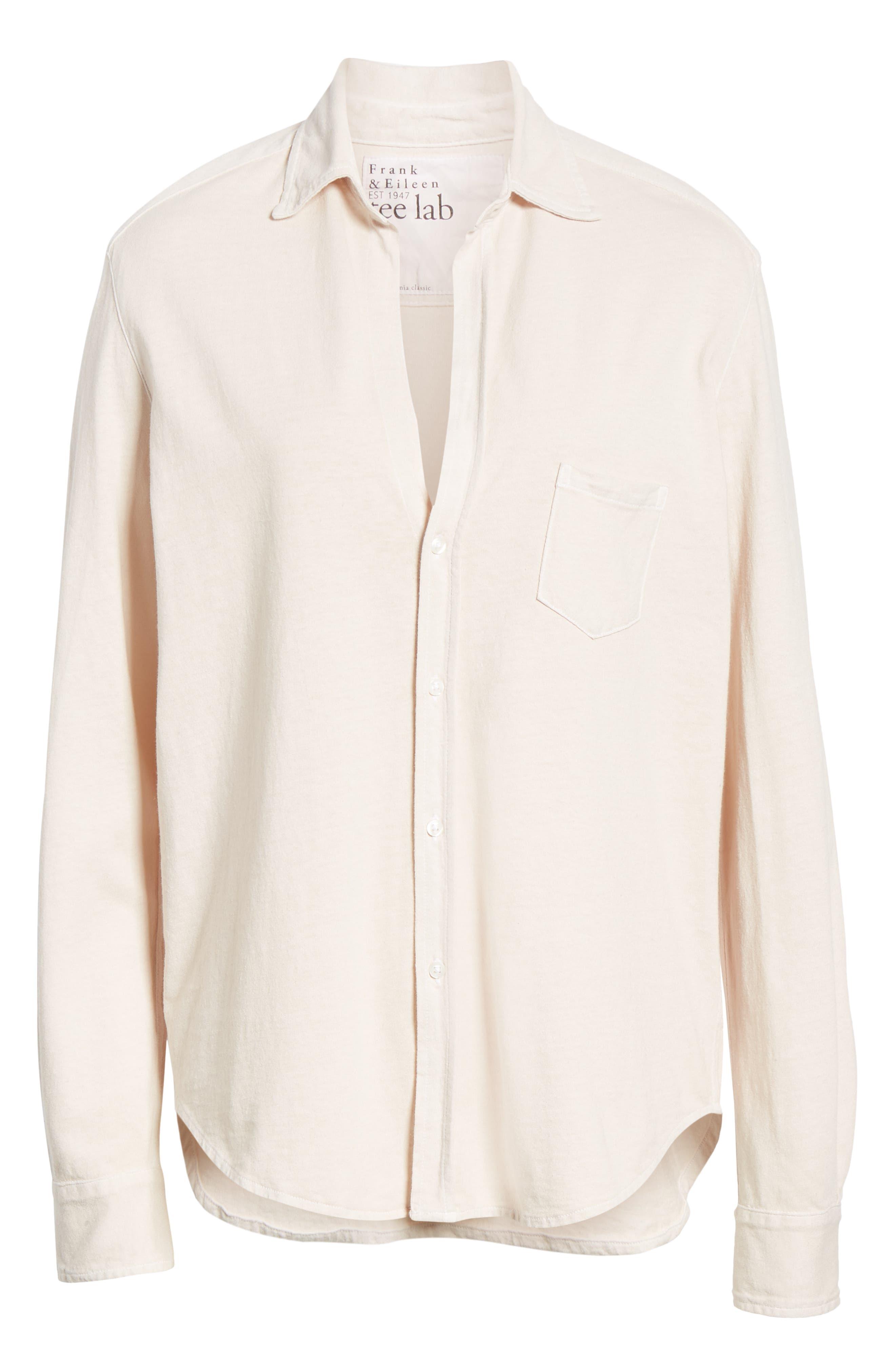 Eileen Jersey Button Front Shirt,                             Alternate thumbnail 7, color,                             NO FILTER
