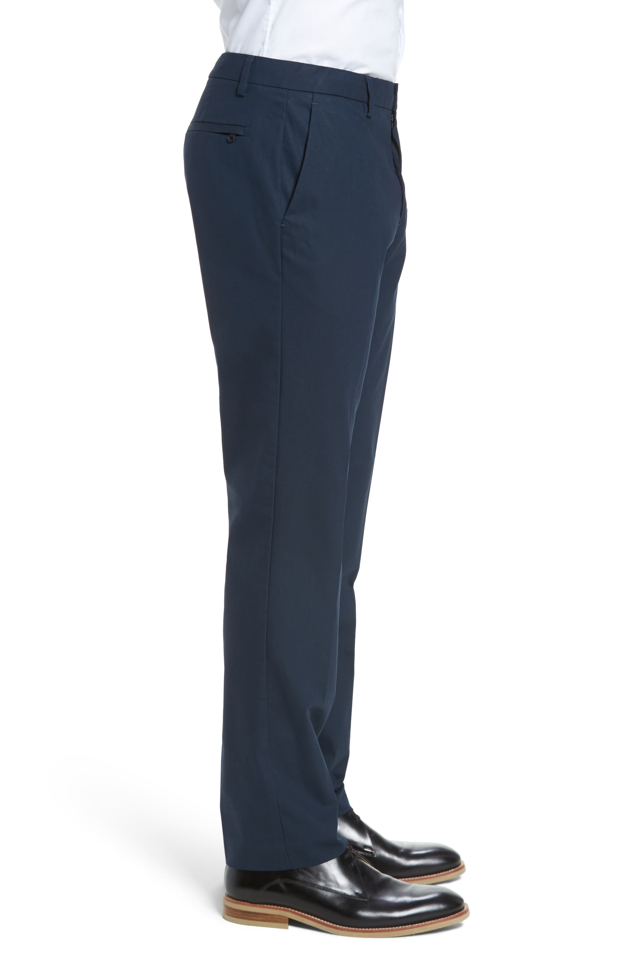 Slim Fit Tech Chinos,                             Alternate thumbnail 3, color,                             NEW NAVY