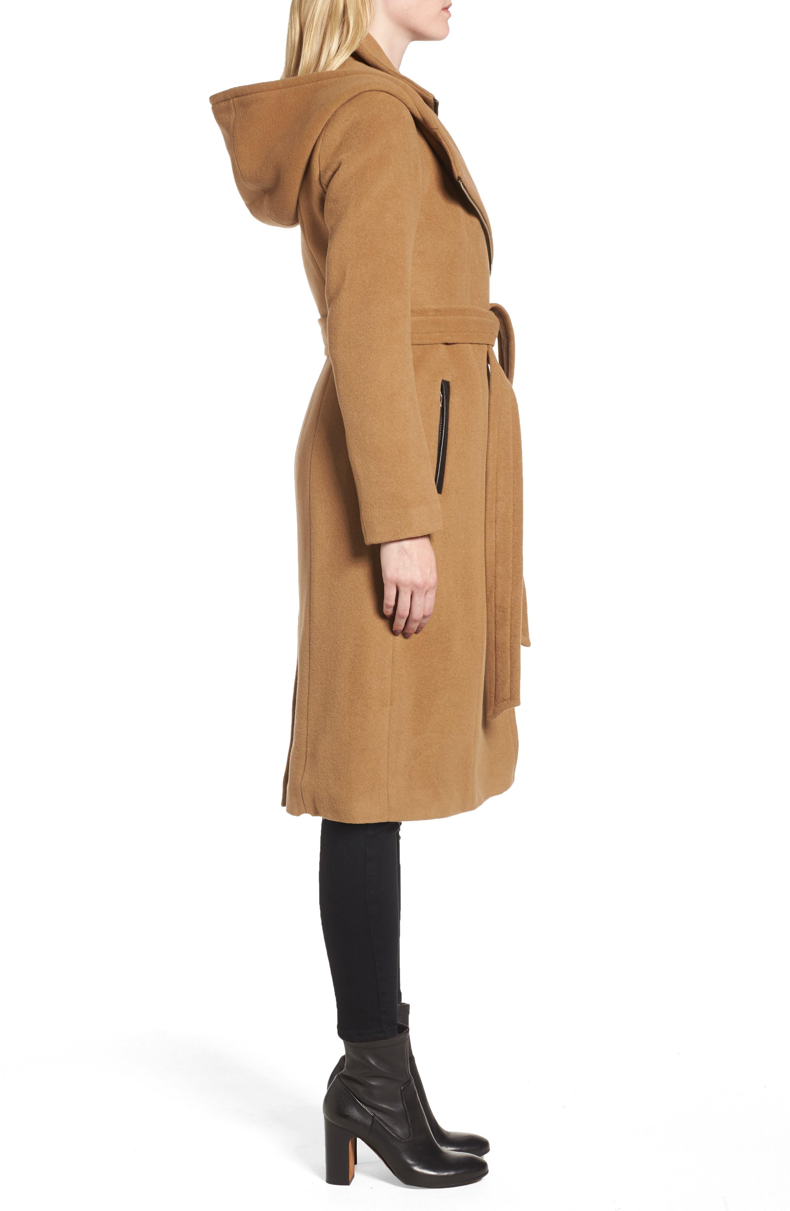 Janya Wool Blend Coat,                             Alternate thumbnail 3, color,                             253