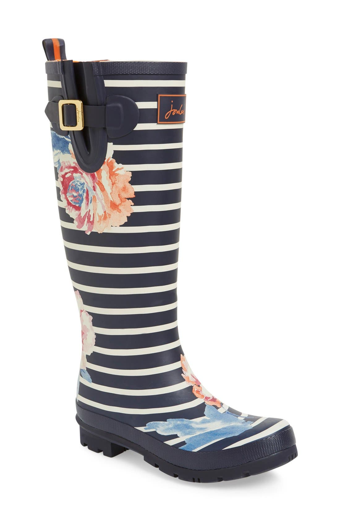 'Welly' Print Rain Boot,                             Main thumbnail 41, color,