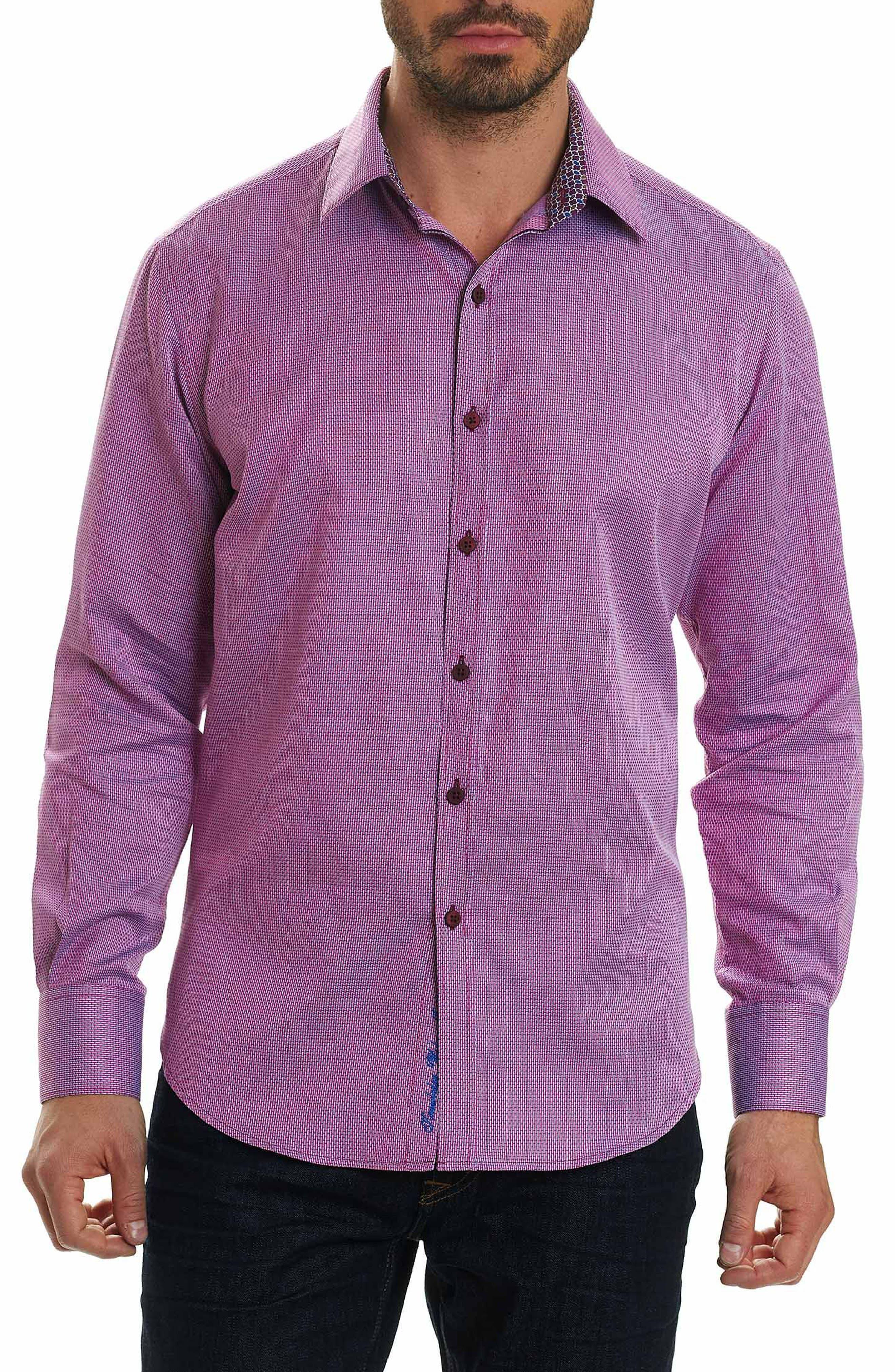 Jobson Regular Fit Sport Shirt,                         Main,                         color, RASPBERRY