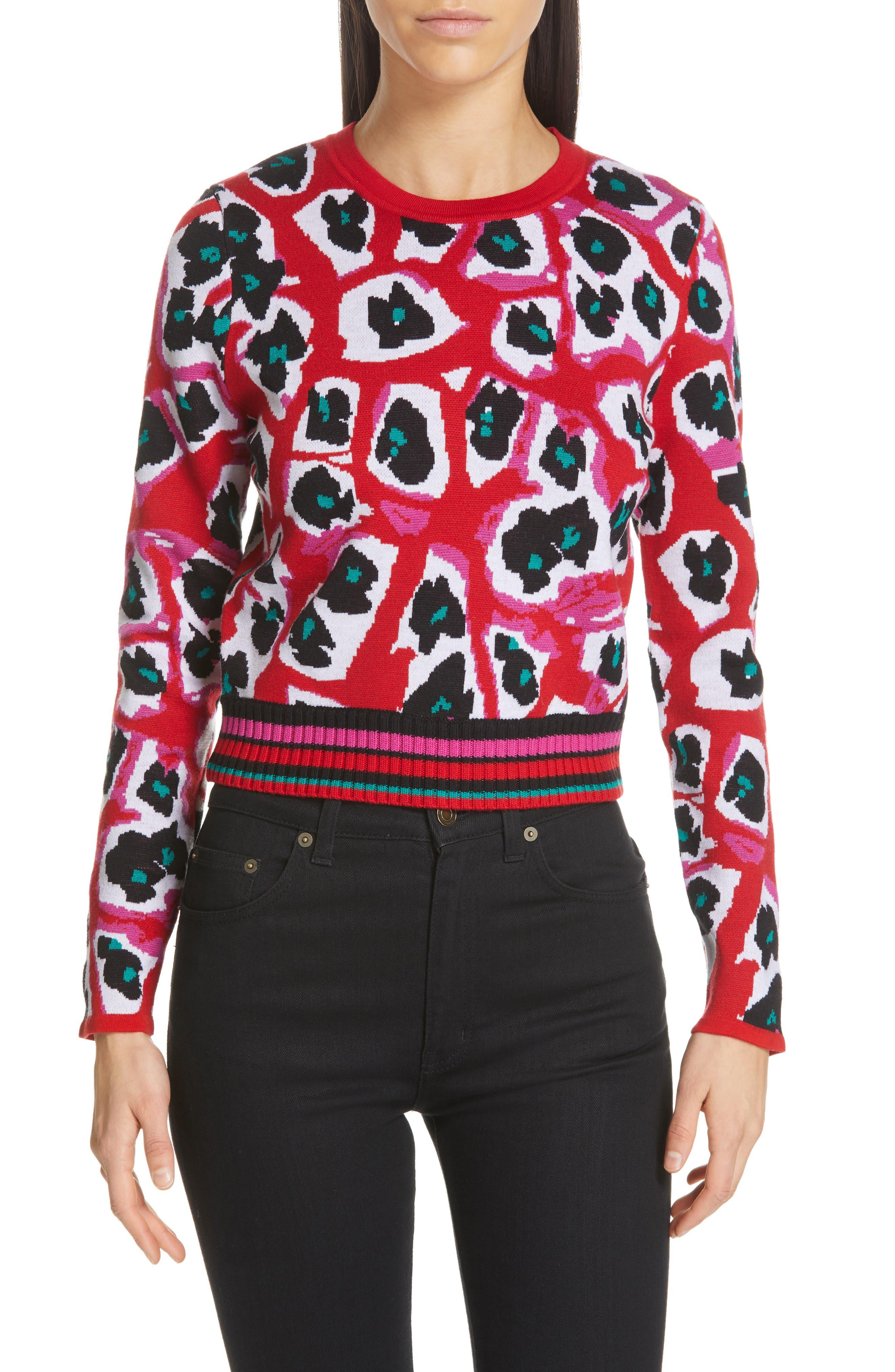 Dvf Harrison Wool Blend Sweater, Red