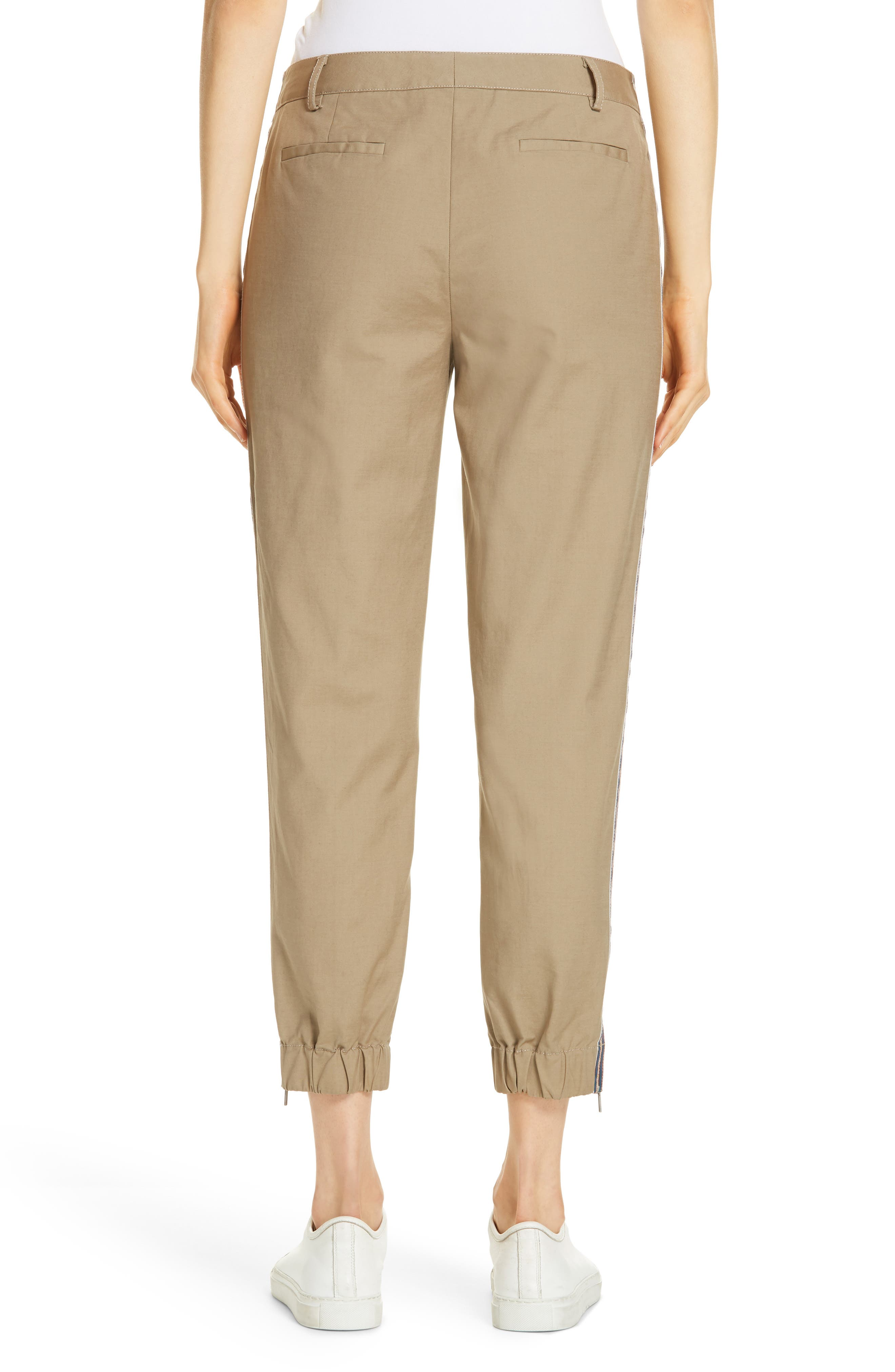 Zip Ankle Jogger Pants,                             Alternate thumbnail 2, color,                             TAN LEAD