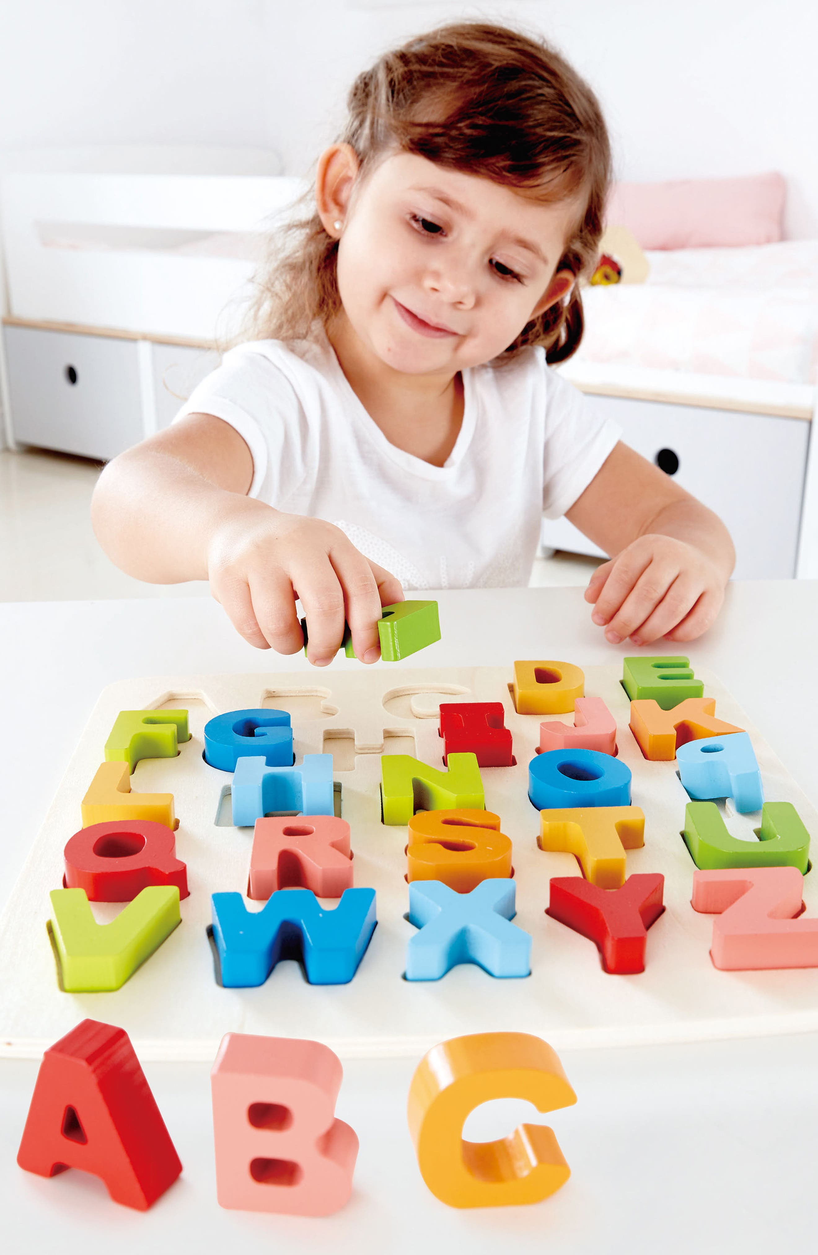 27-Piece Chunky Capital Letters Puzzle,                             Alternate thumbnail 4, color,                             800