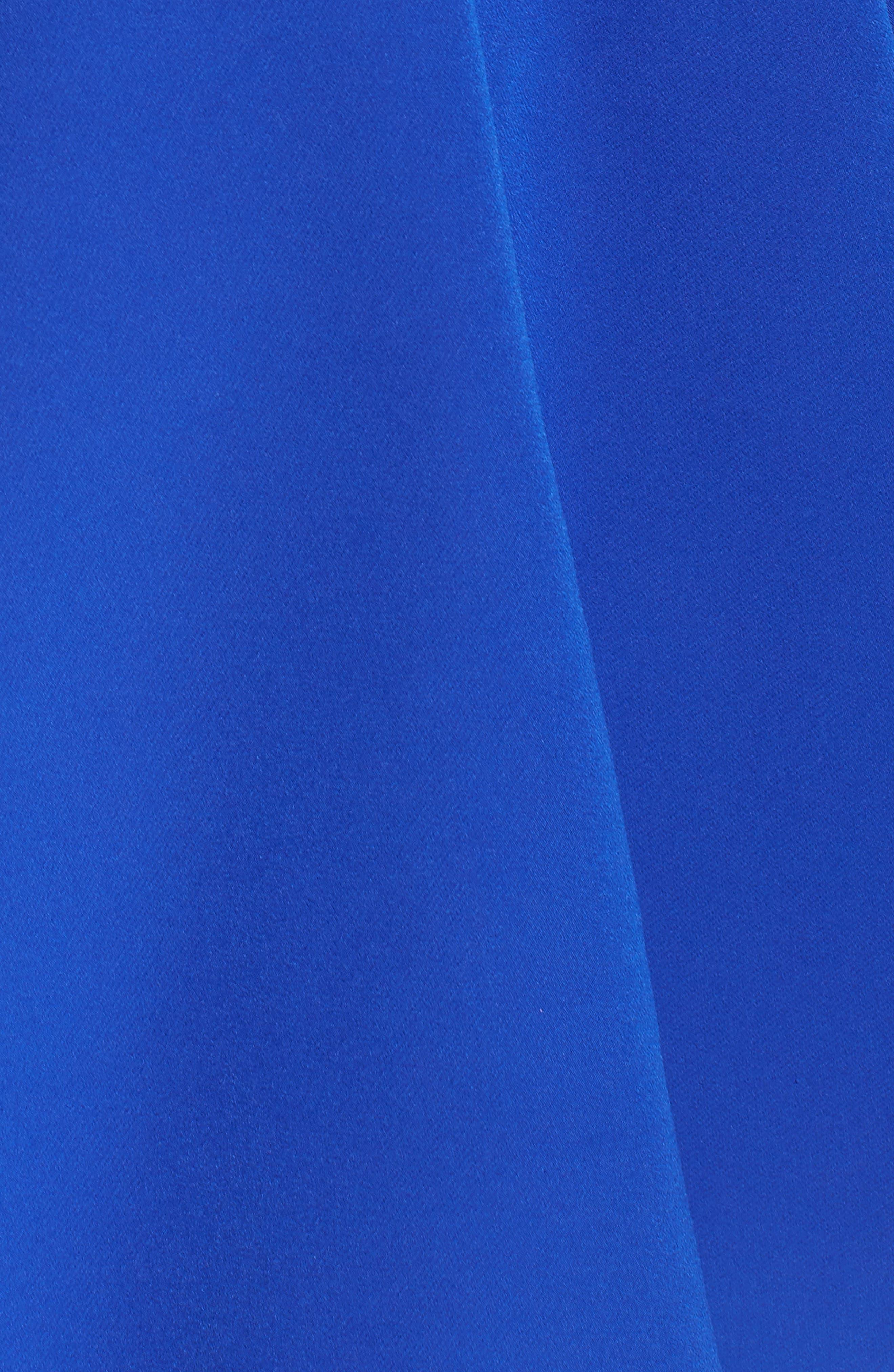 Belted Open Back Fit & Flare Dress,                             Alternate thumbnail 5, color,                             465