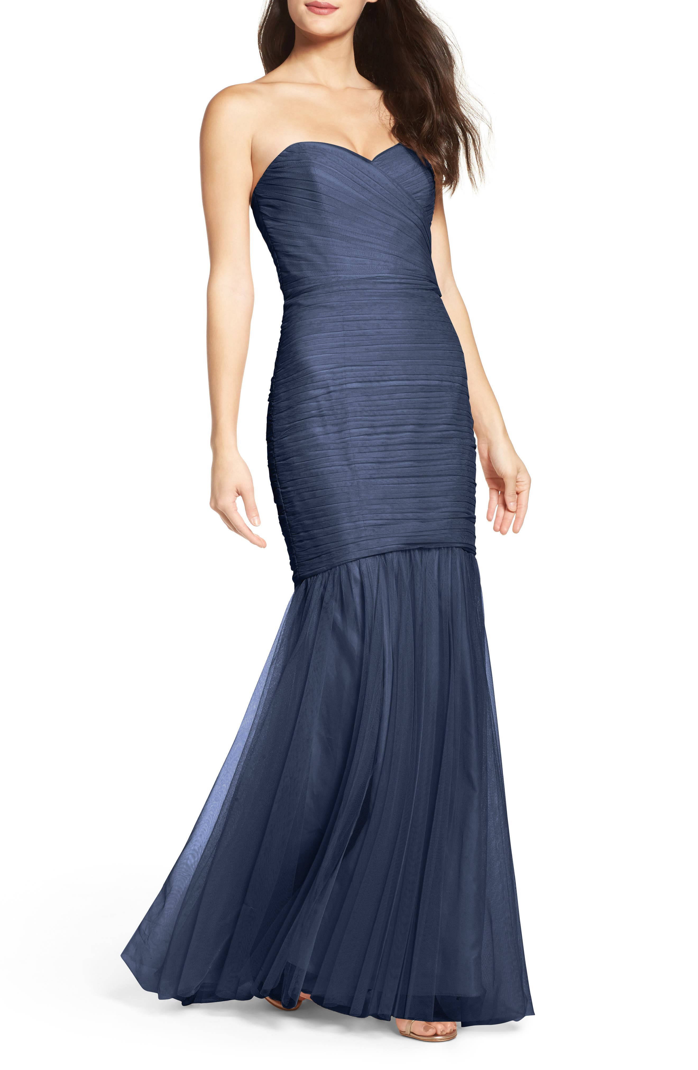 Strapless Crinkle Chiffon Gown,                             Alternate thumbnail 20, color,