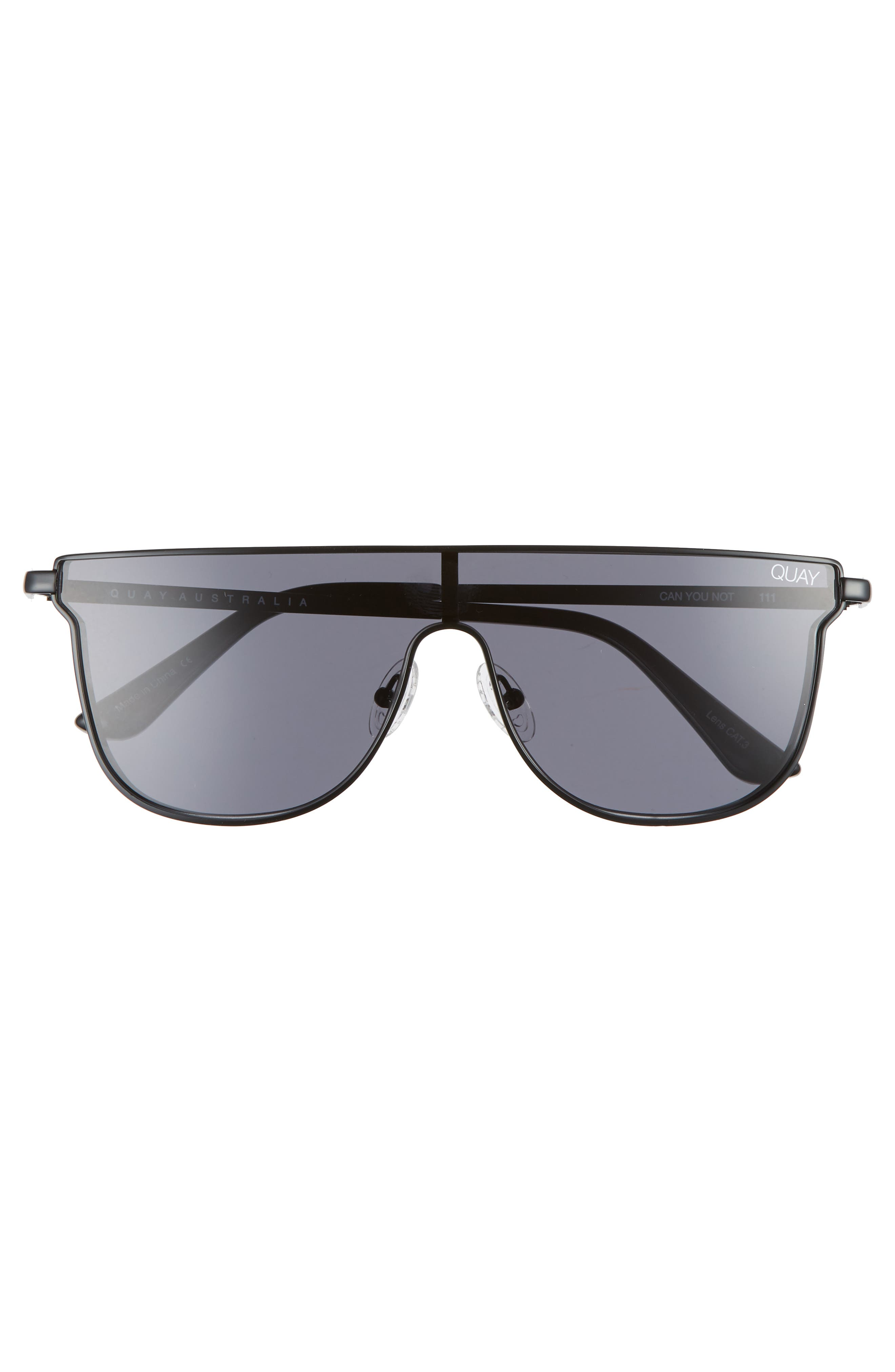 Can You Not 140mm Shield Sunglasses,                             Alternate thumbnail 3, color,                             001