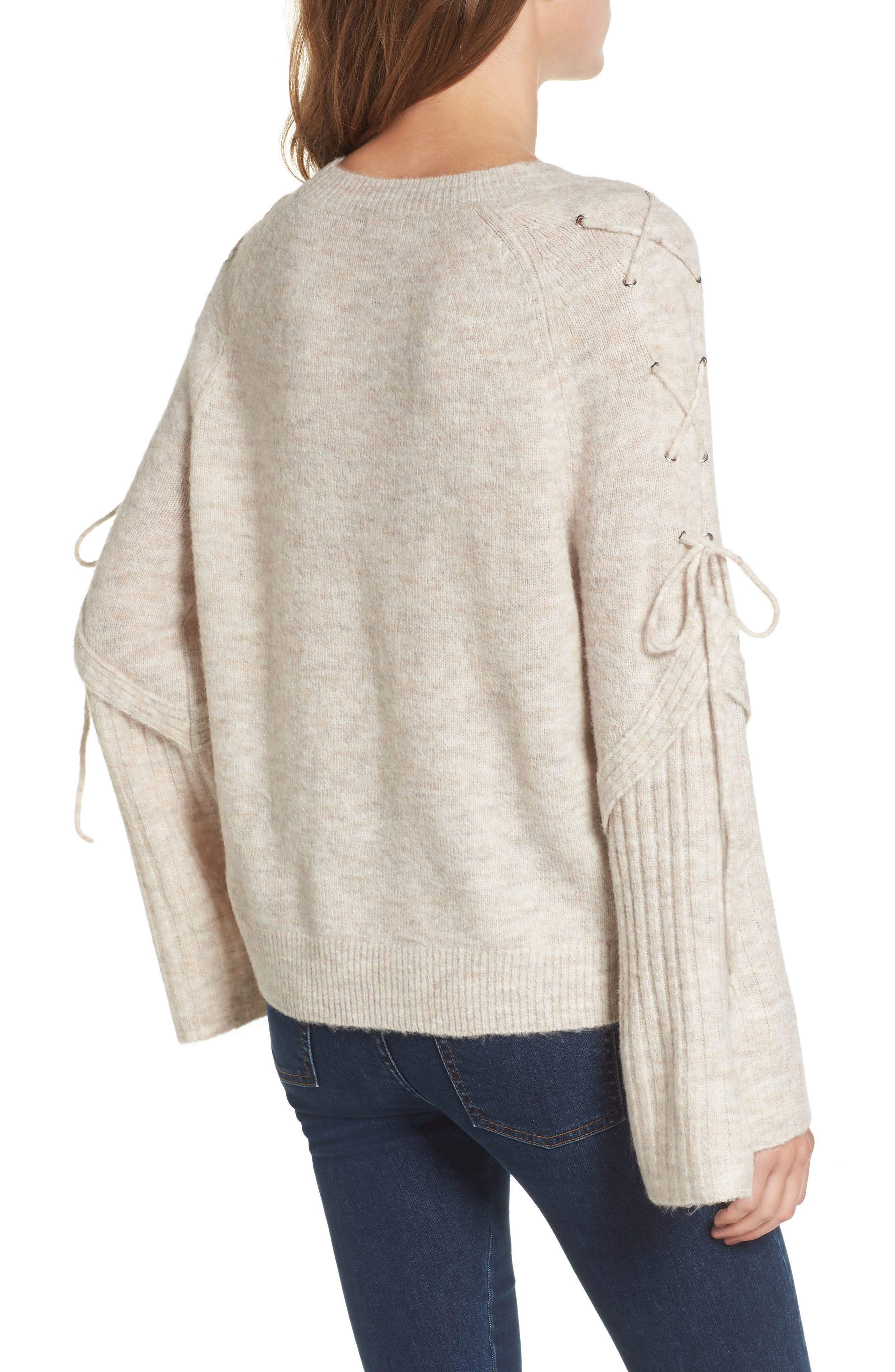Lace Up Shoulder Sweater,                             Alternate thumbnail 2, color,                             260