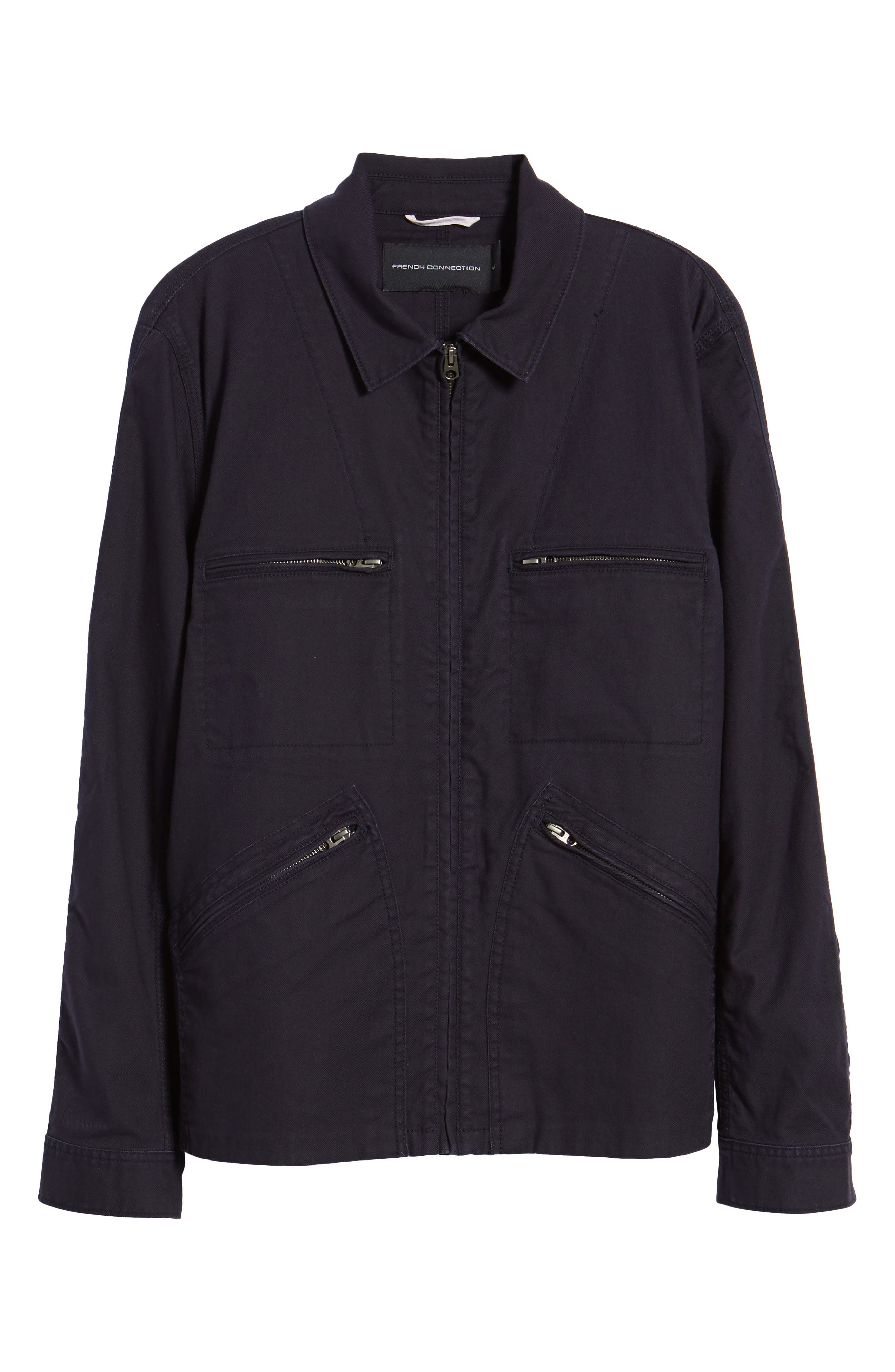 Slim Fit Slub Twill Cotton & Linen Jacket,                             Alternate thumbnail 5, color,                             001