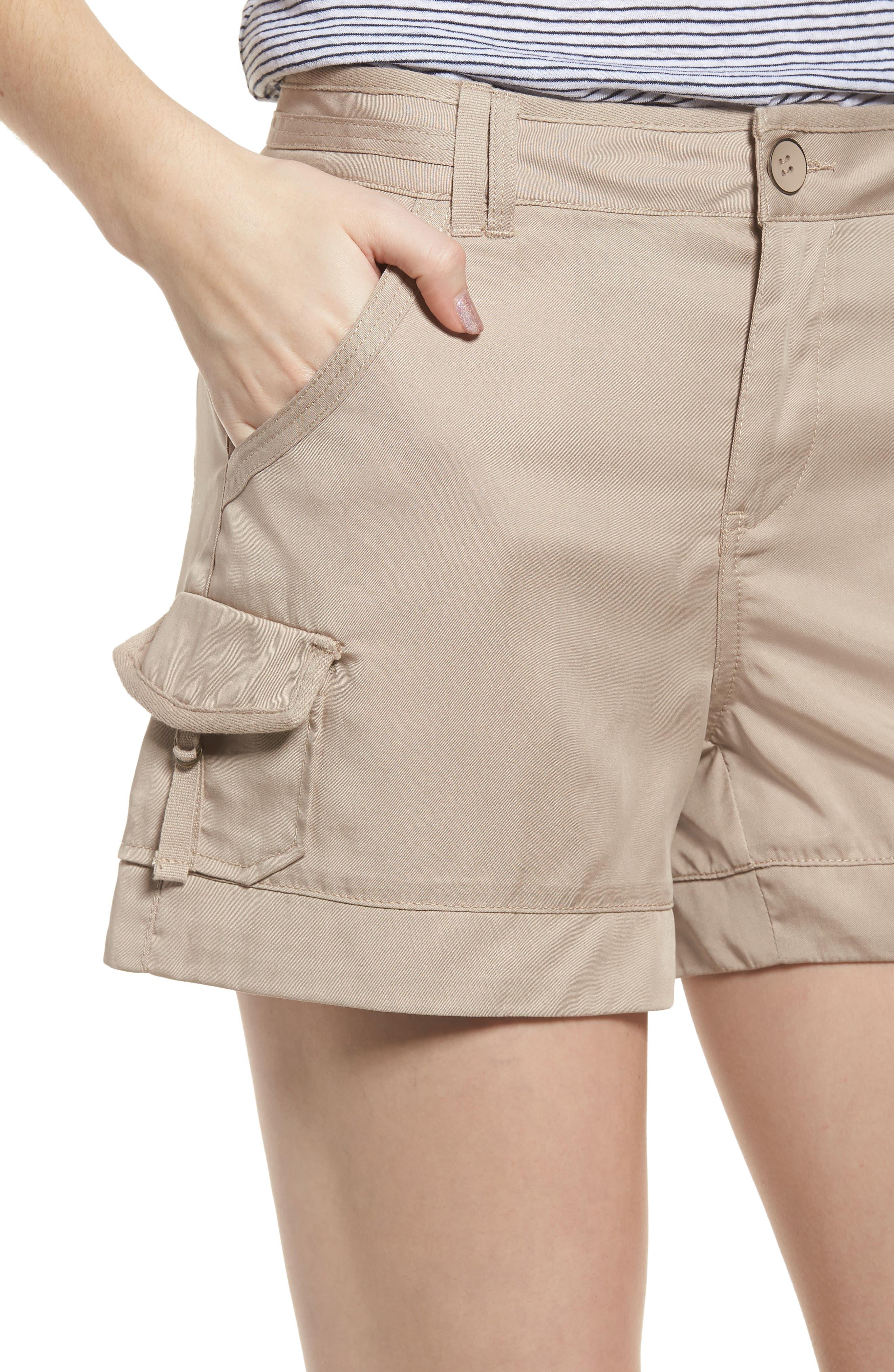 High Rise Tencel Shorts,                             Alternate thumbnail 15, color,