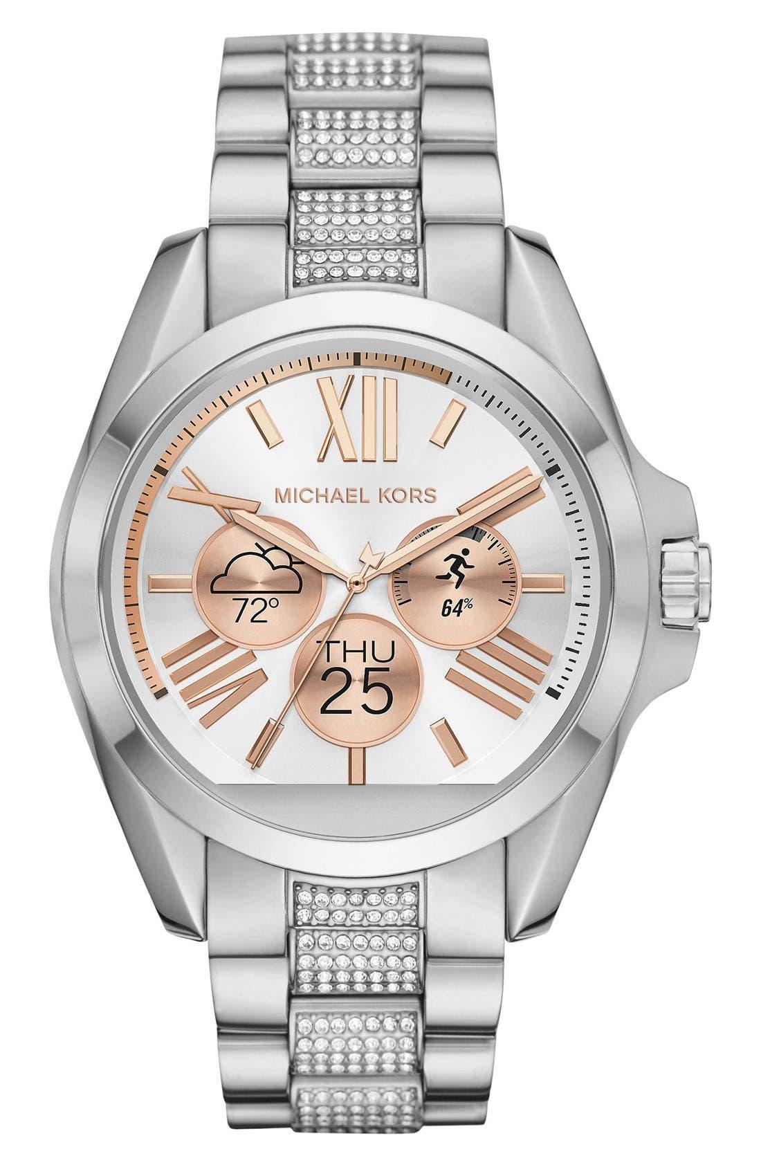 MICHAEL Michael Kors Bradshaw Access Bracelet Smart Watch, 45mm,                             Alternate thumbnail 46, color,