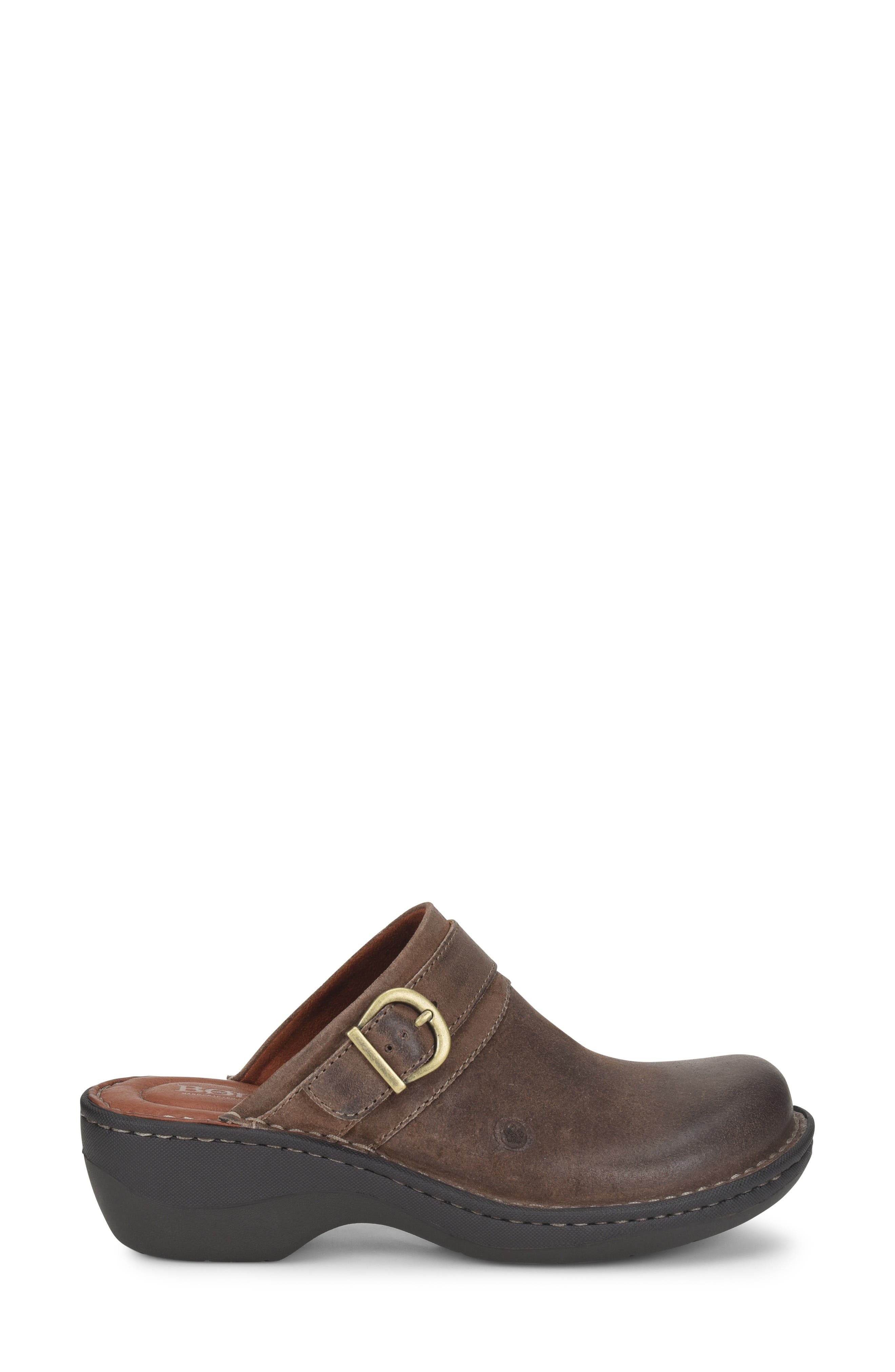BØRN,                             Avoca Clog,                             Alternate thumbnail 3, color,                             TAUPE DISTRESSED LEATHER