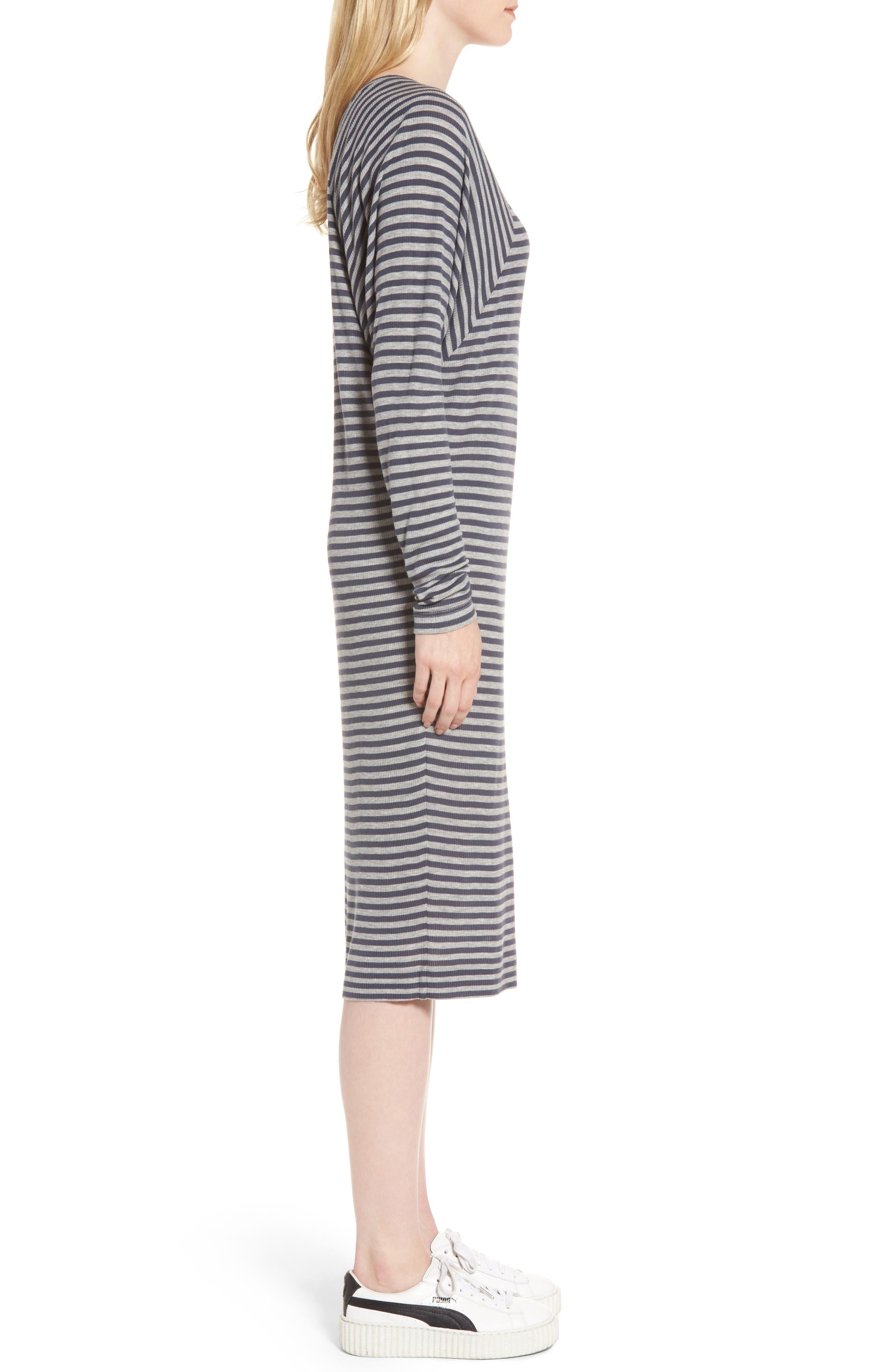 Raglan Midi Dress,                             Alternate thumbnail 3, color,                             486