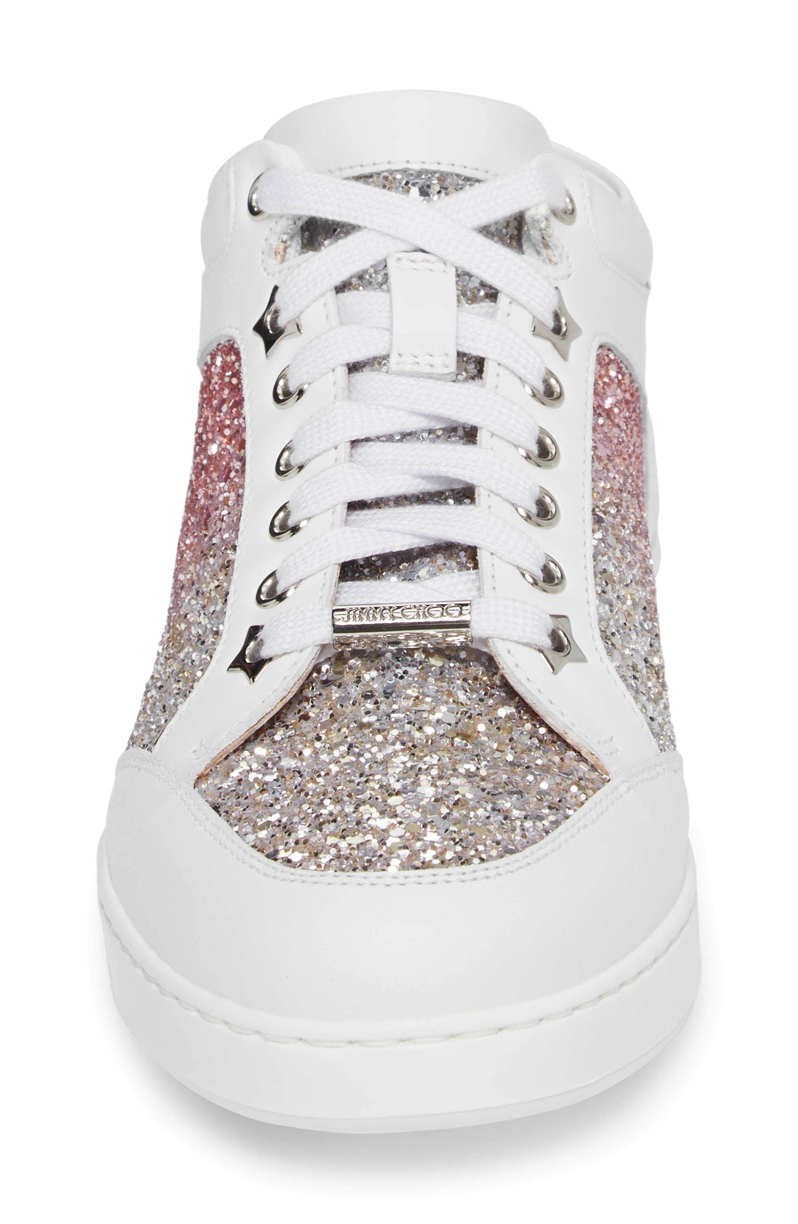JIMMY CHOO,                             Miami Low Top Sneaker,                             Alternate thumbnail 4, color,                             650