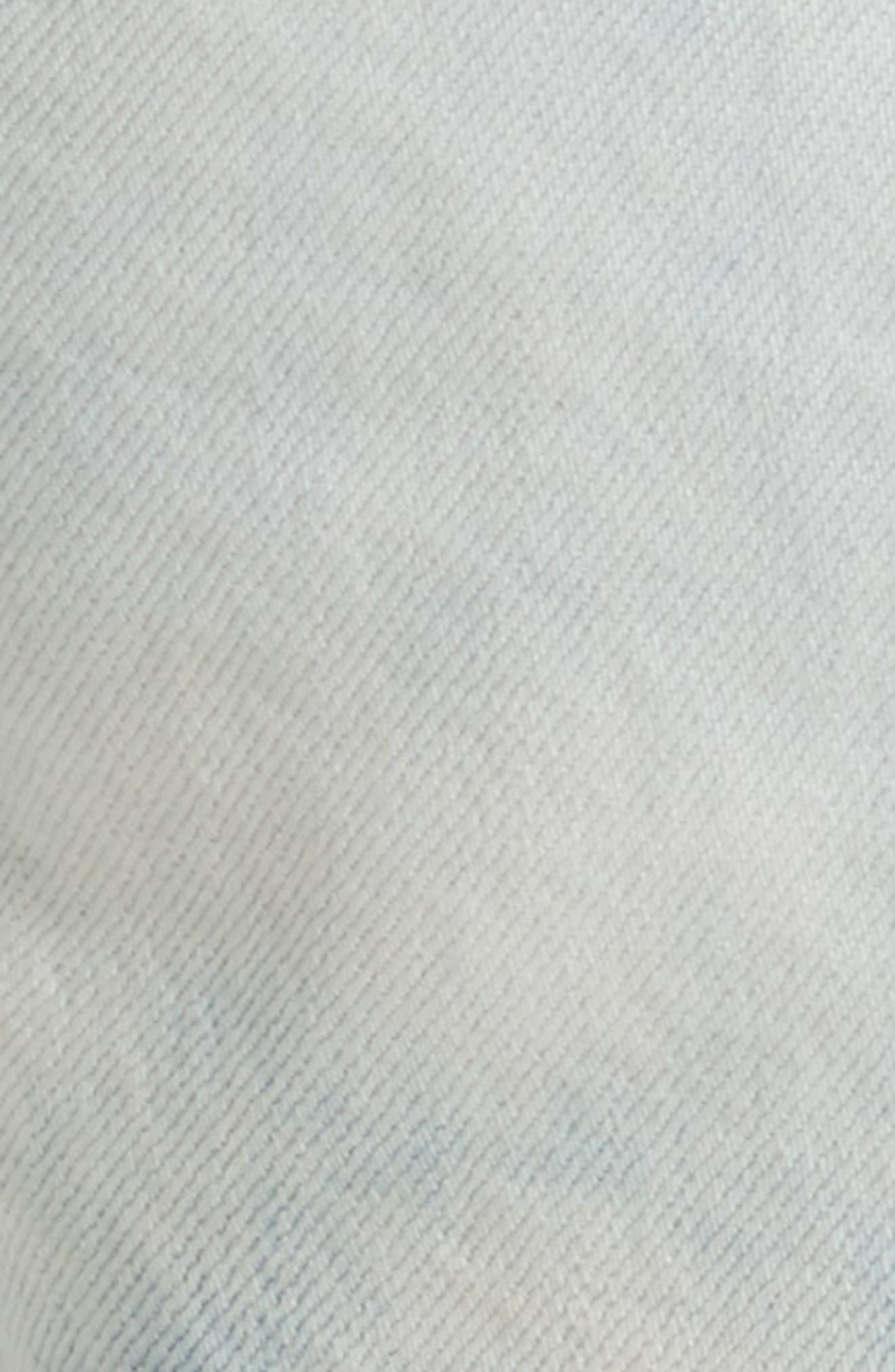 Cutoff Denim Shorts,                             Alternate thumbnail 5, color,                             490