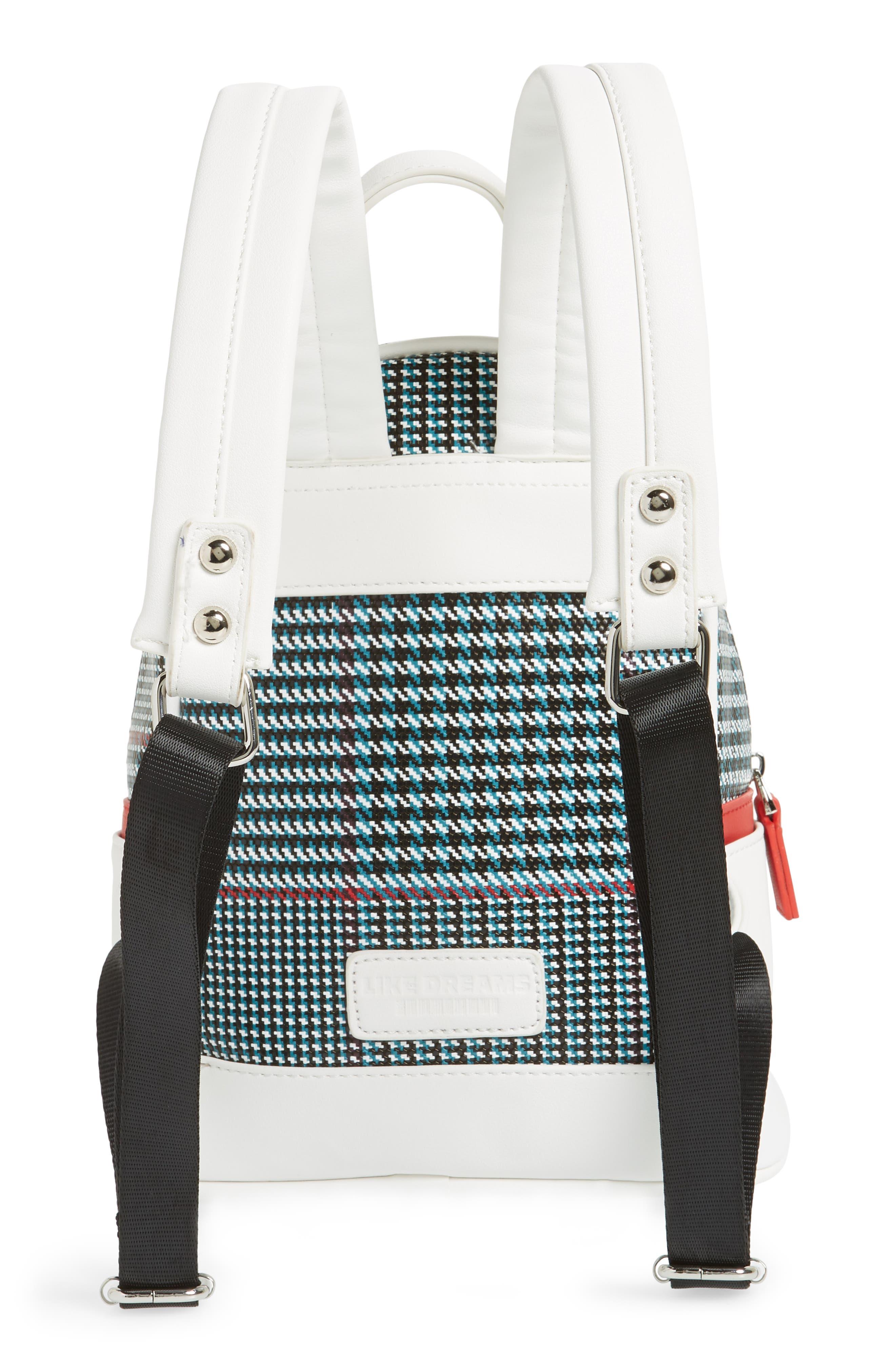 Woven Mini Backpack,                             Alternate thumbnail 3, color,                             BLUE MULTI