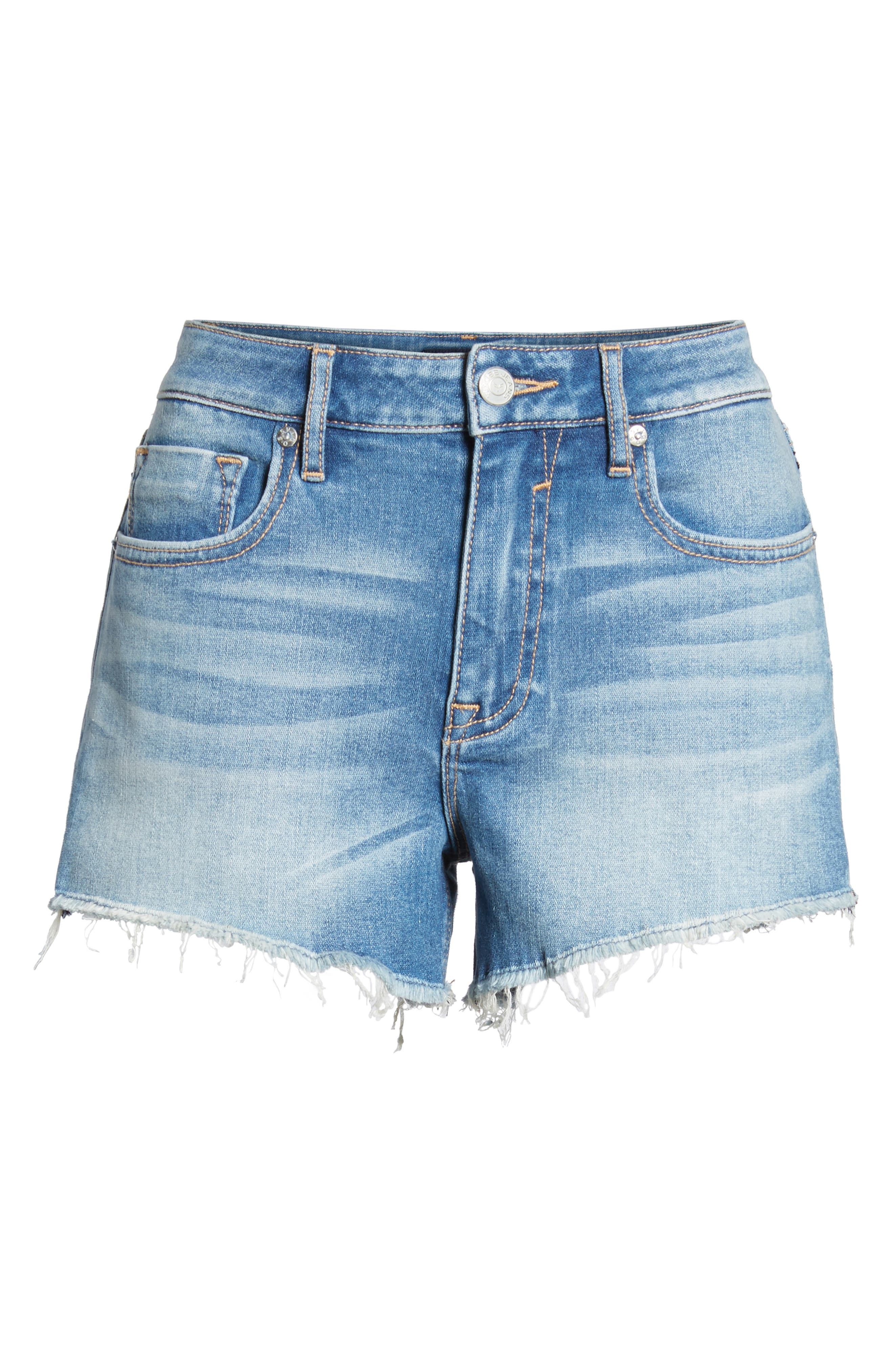 Jagger Shadow Pocket Denim Shorts,                             Alternate thumbnail 6, color,                             461
