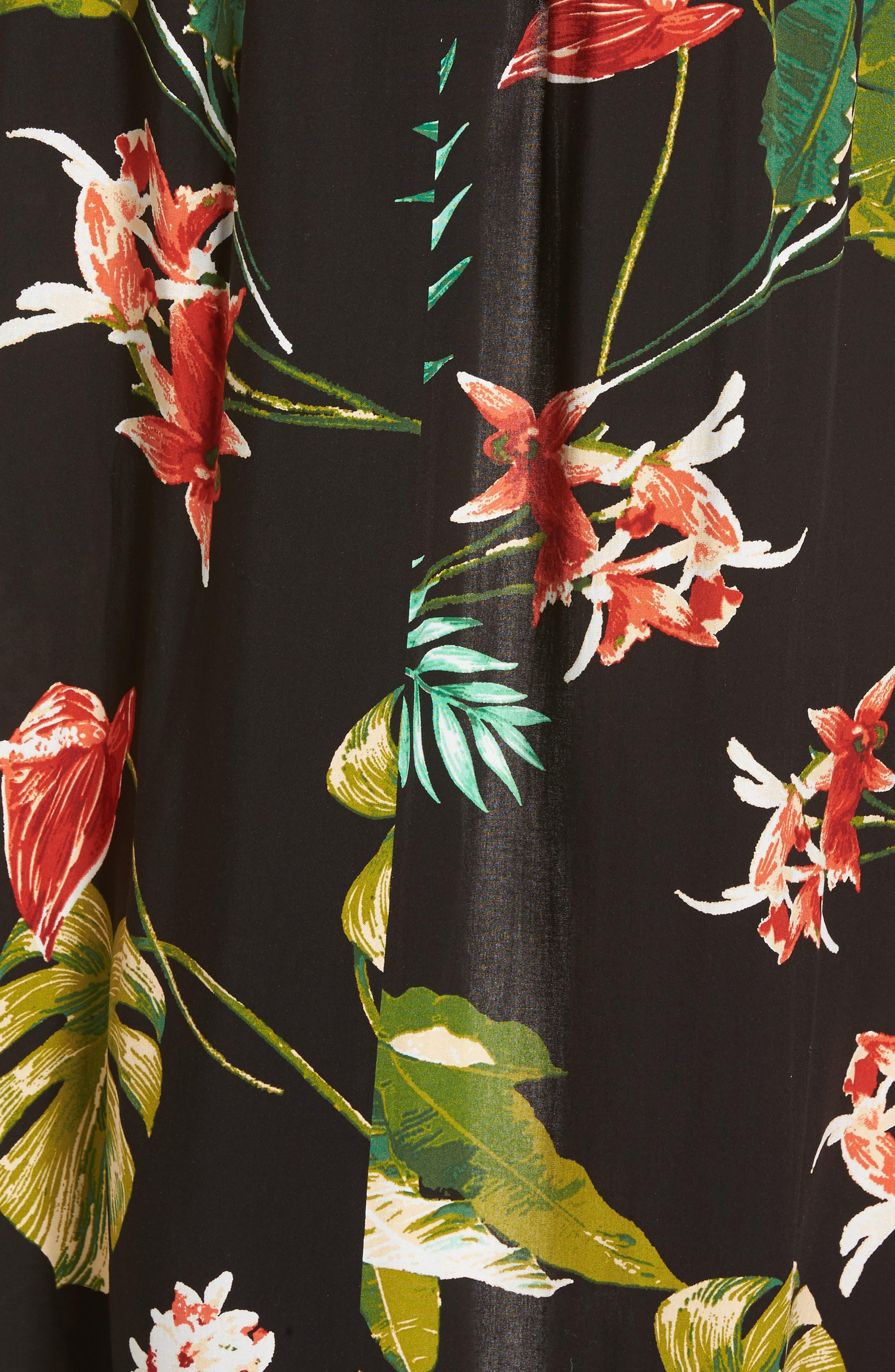 Tie-Front Maxi Romper,                             Alternate thumbnail 5, color,