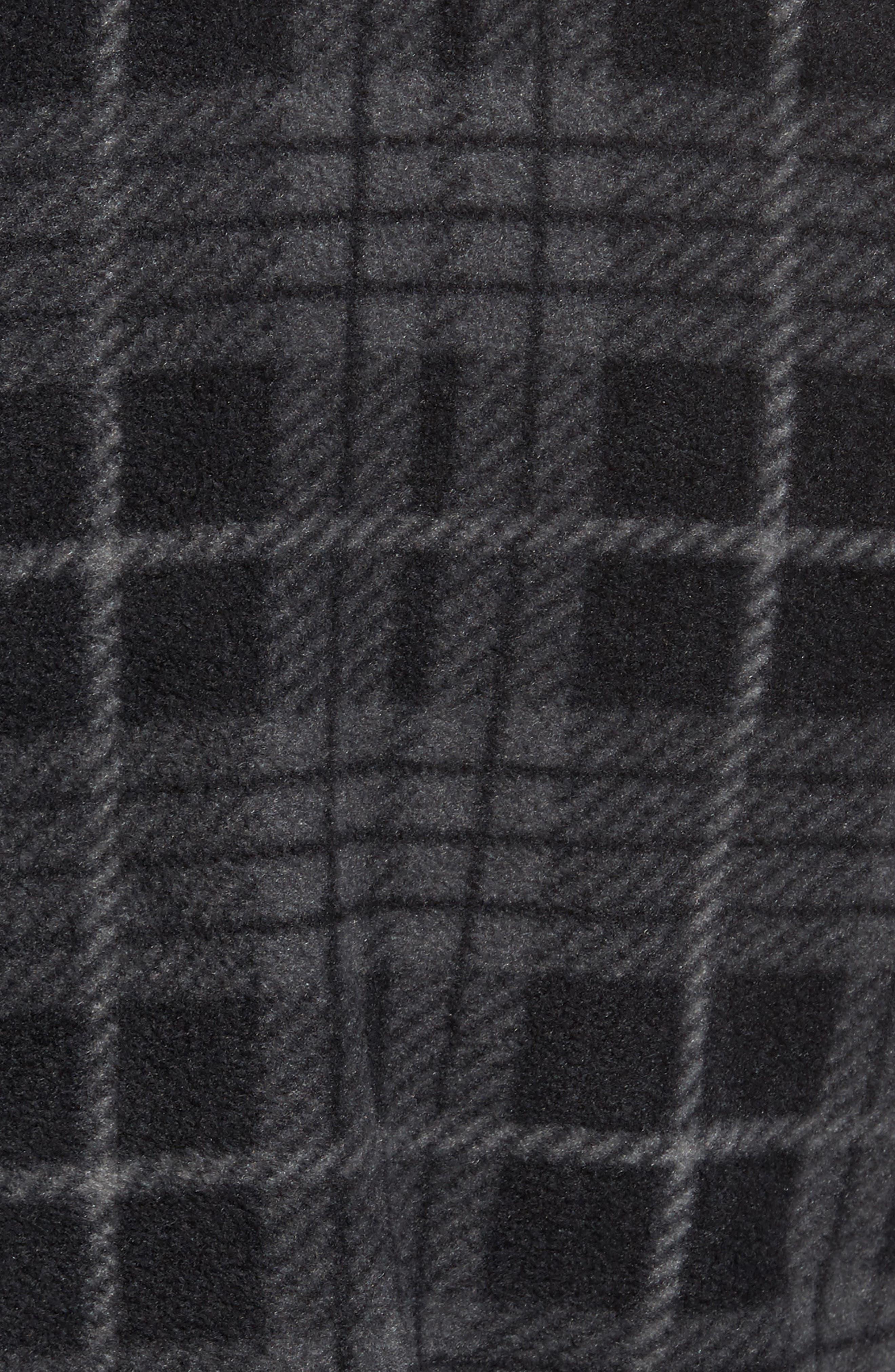 Breakers Regular Fit Plaid Fleece Shirt,                             Alternate thumbnail 5, color,                             001