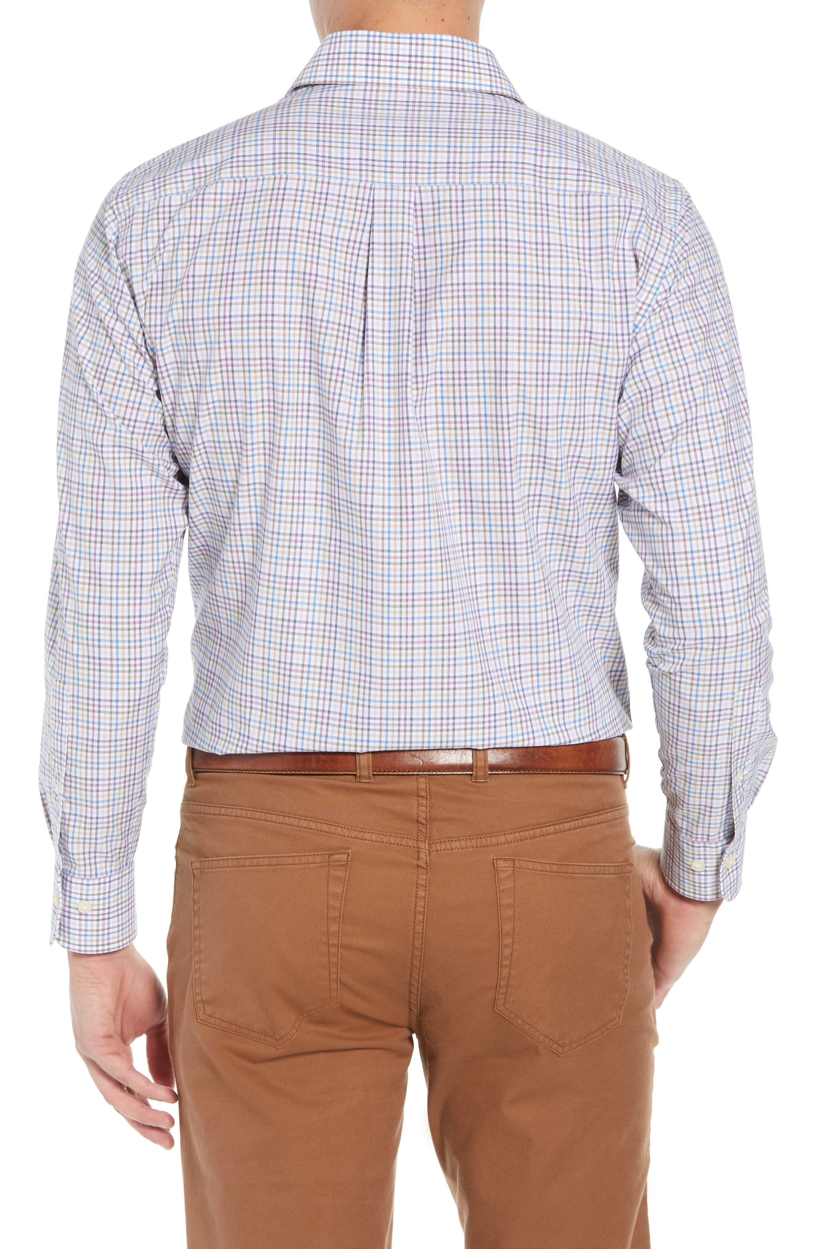 Whittier Heights Check Sport Shirt,                             Alternate thumbnail 3, color,                             BEET
