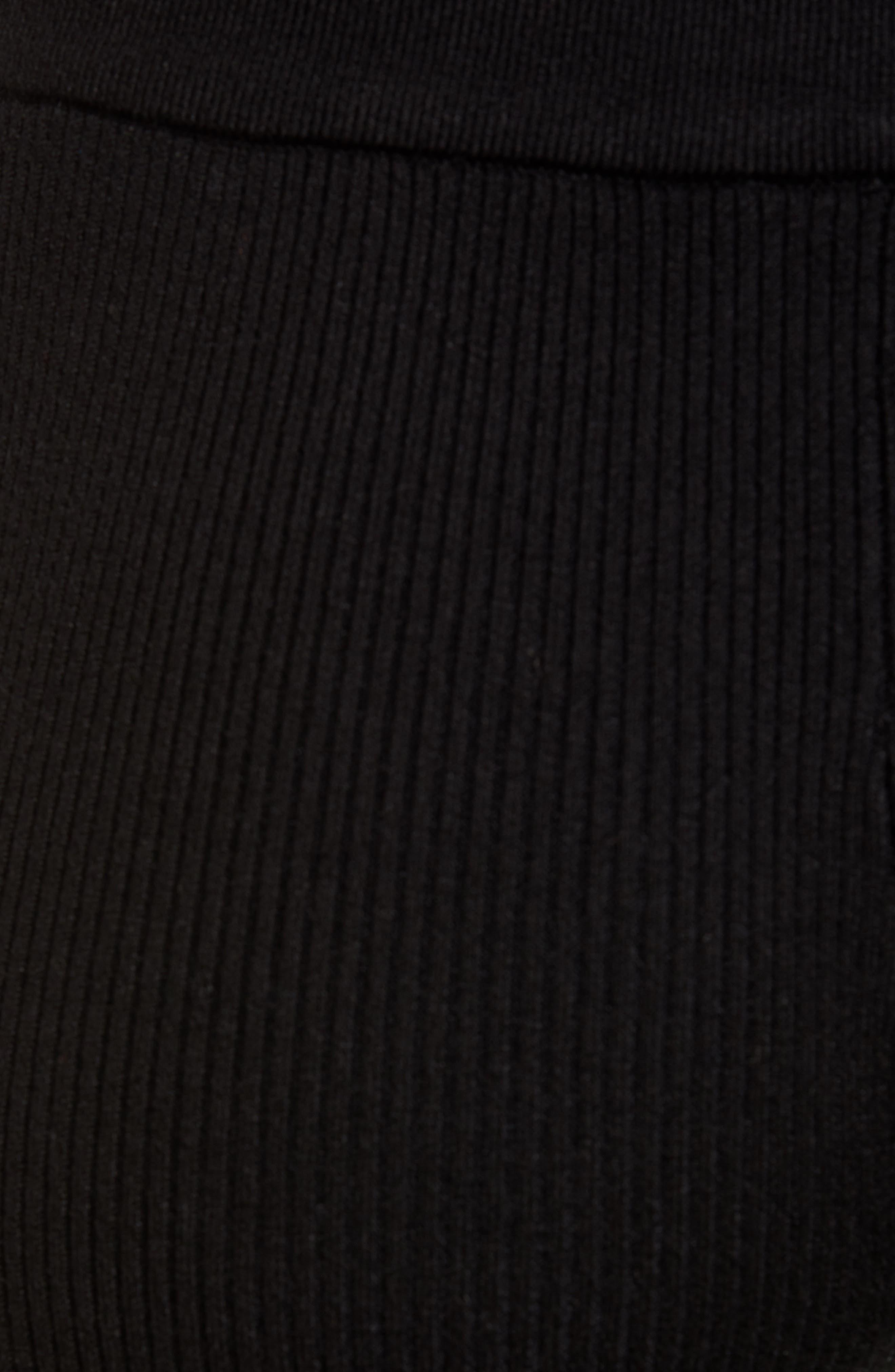 Ribbed Jogger Pants,                             Alternate thumbnail 6, color,                             BLACK