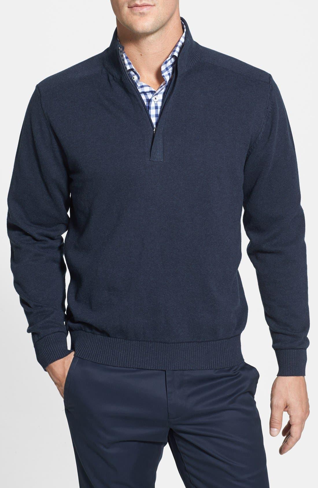 CUTTER & BUCK,                             Broadview Half Zip Sweater,                             Main thumbnail 1, color,                             480