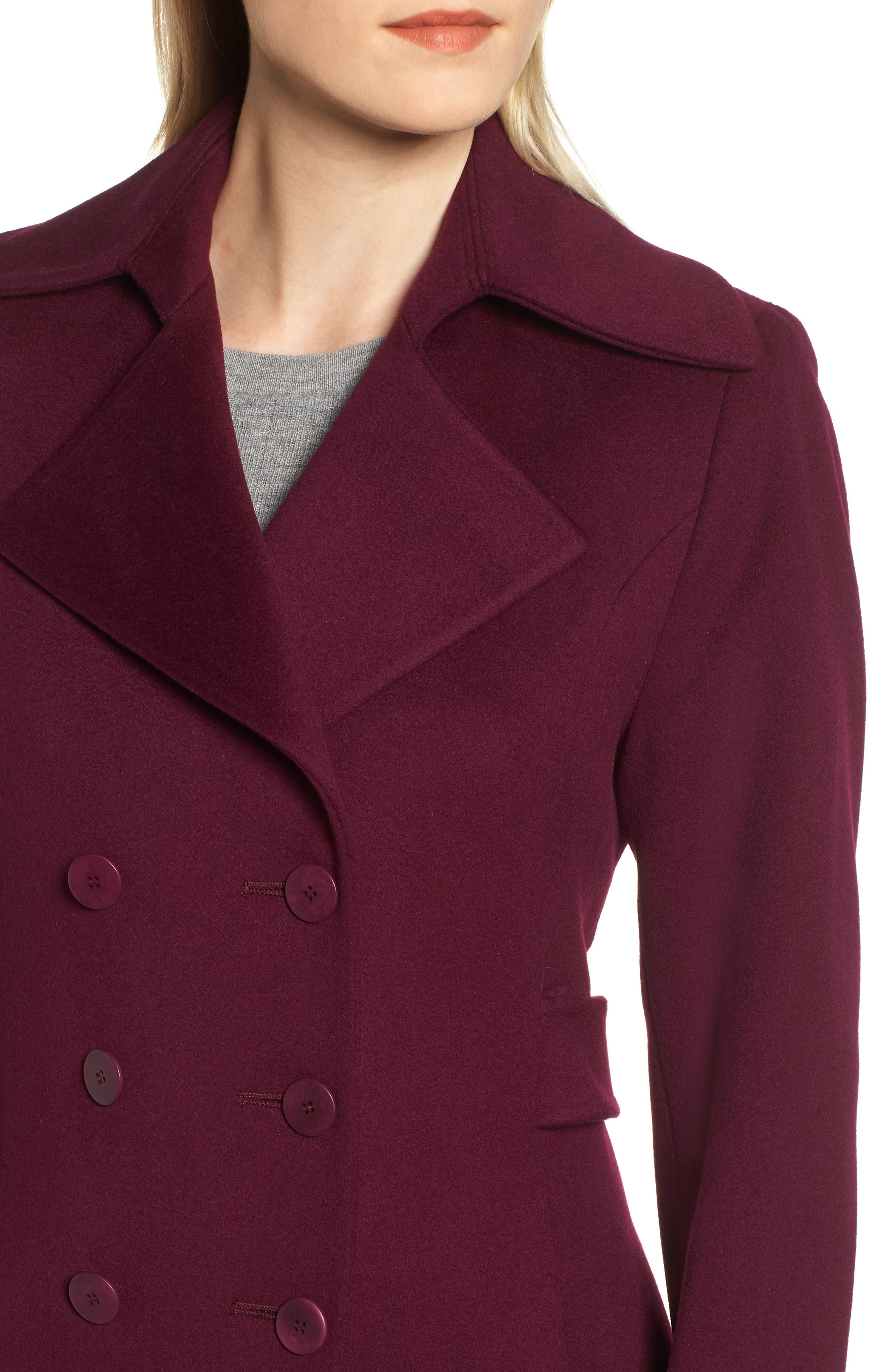Double Breasted Loro Piana Wool Coat,                             Alternate thumbnail 4, color,                             600