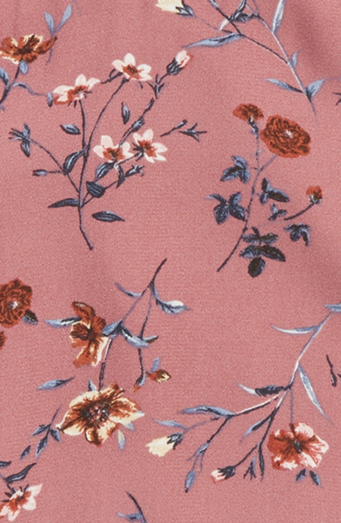 Floral Cold Shoulder Woven Top,                             Alternate thumbnail 2, color,                             MAUVE