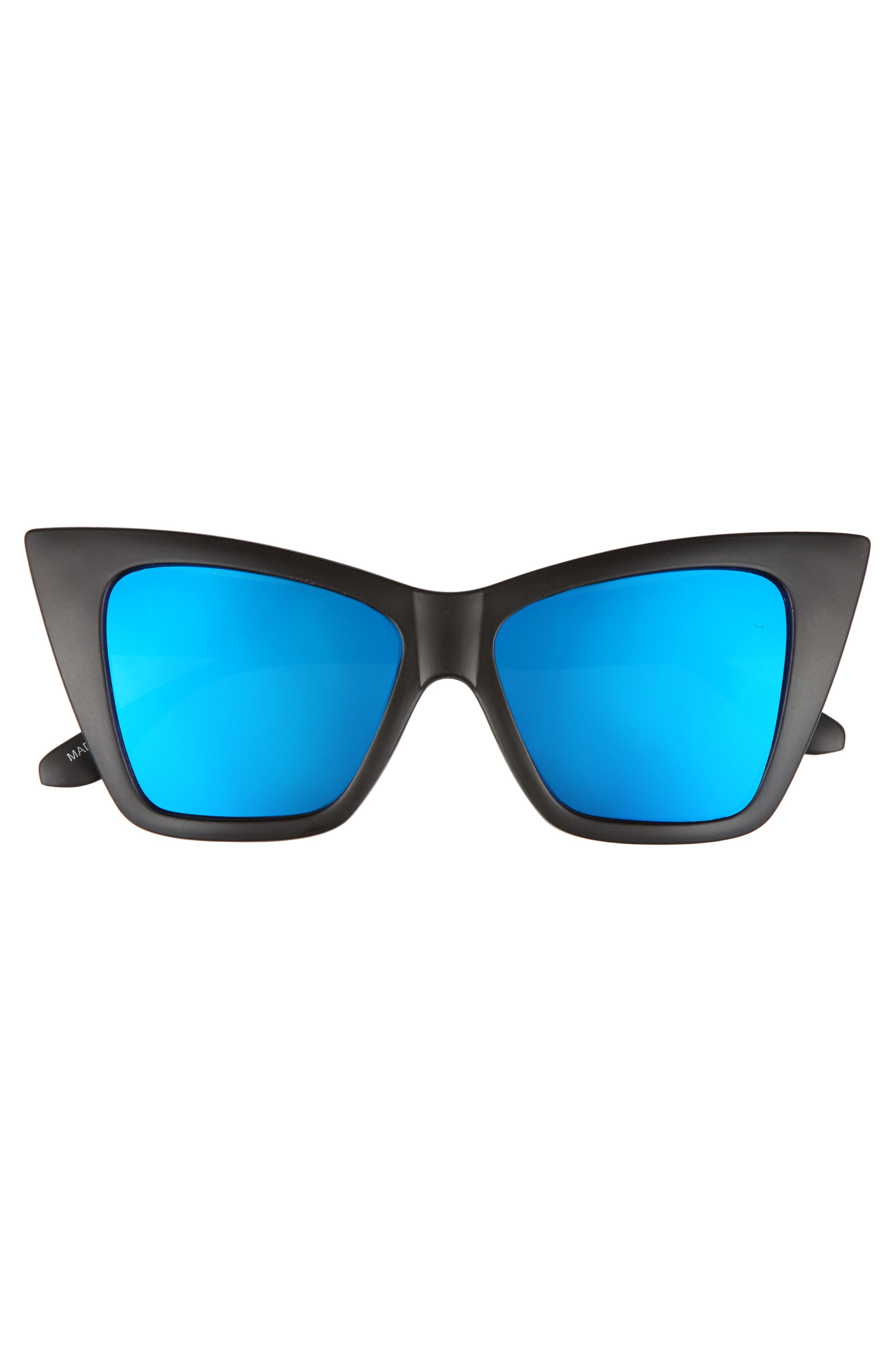 66mm Oversize Cat Eye Sunglasses,                             Alternate thumbnail 3, color,                             001
