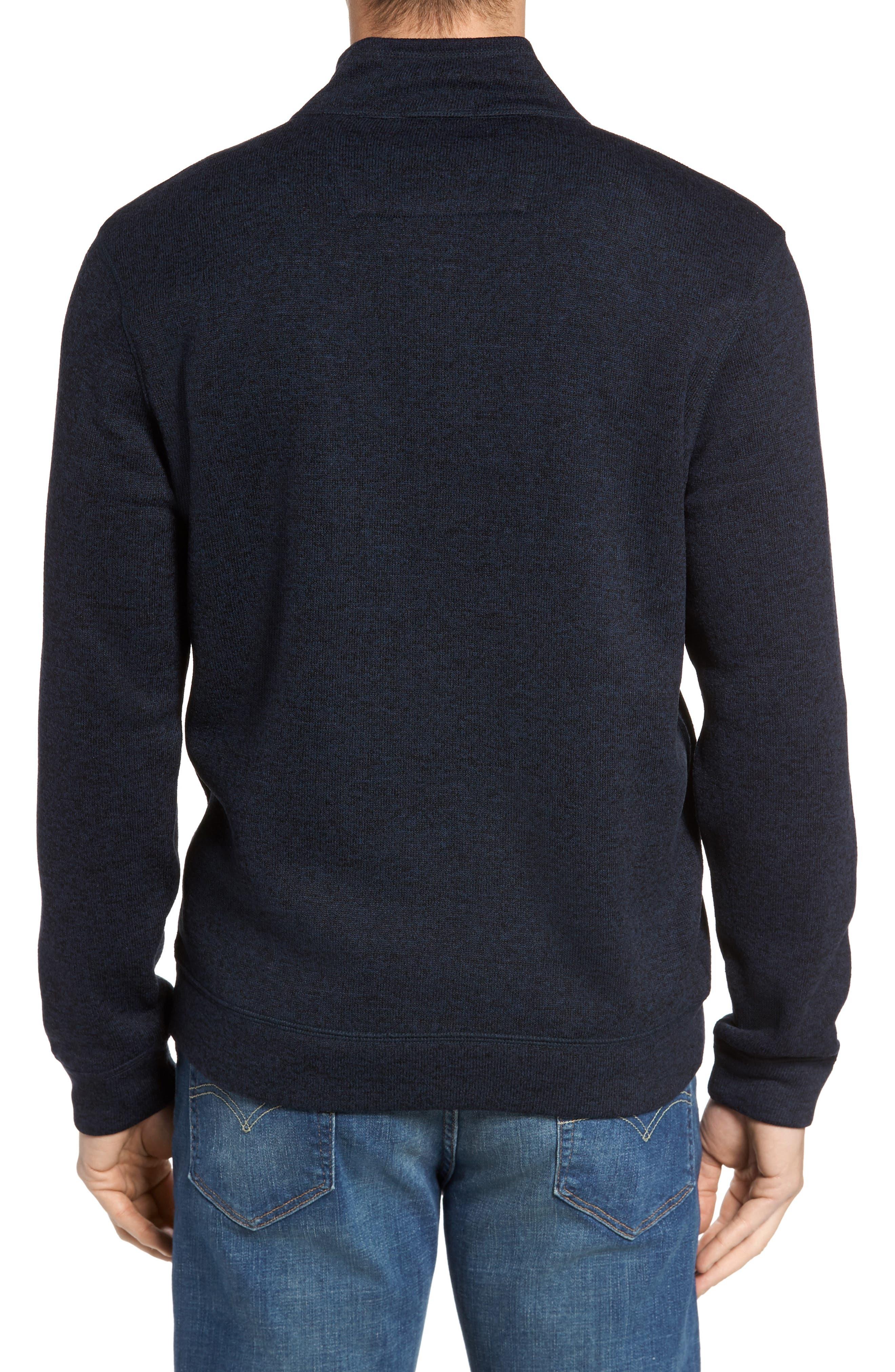 Sweater Knit Fleece Zip Front Jacket,                             Alternate thumbnail 6, color,