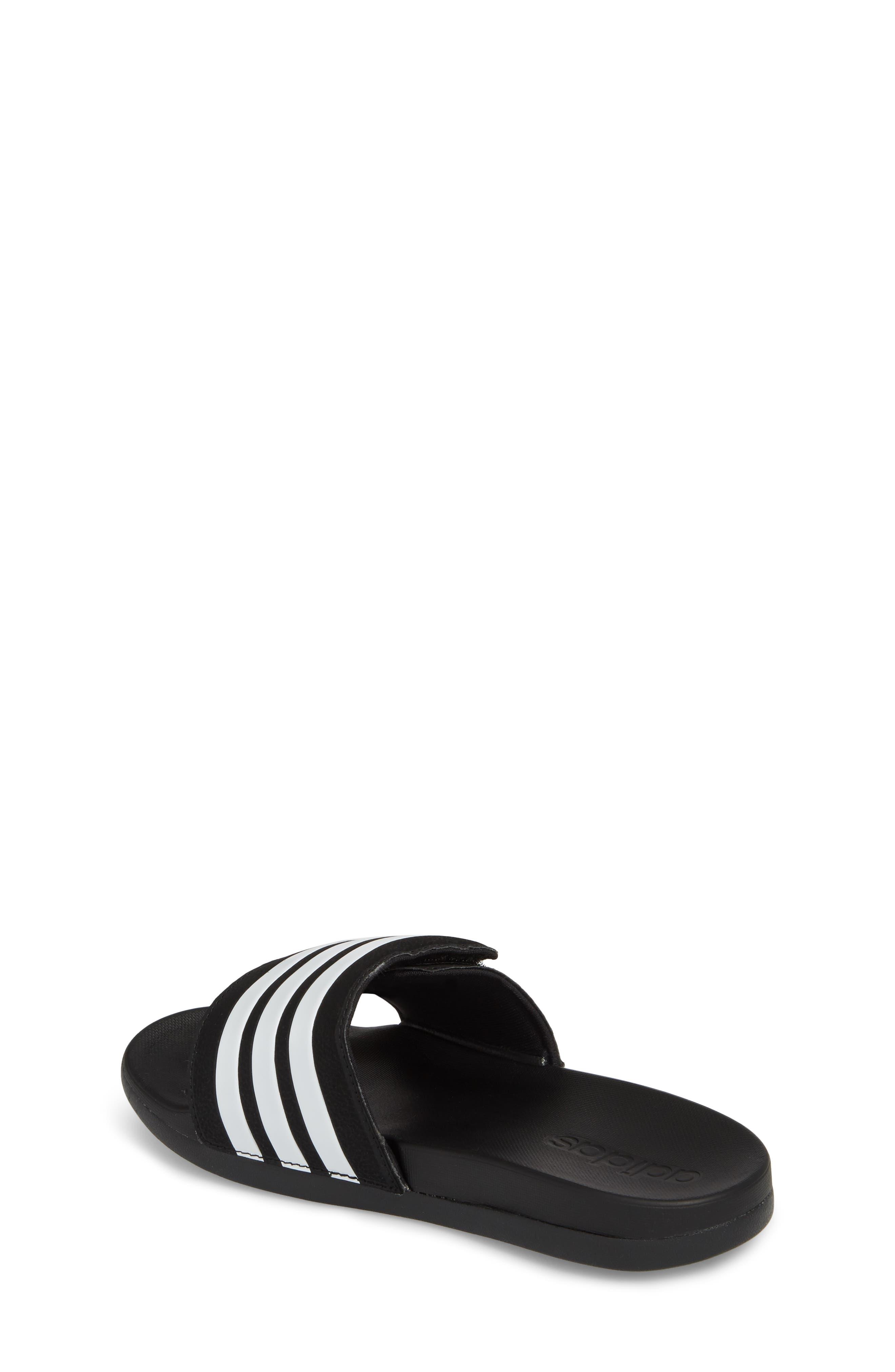 Adilette Slide Sandal,                             Alternate thumbnail 2, color,                             BLACK/ WHITE
