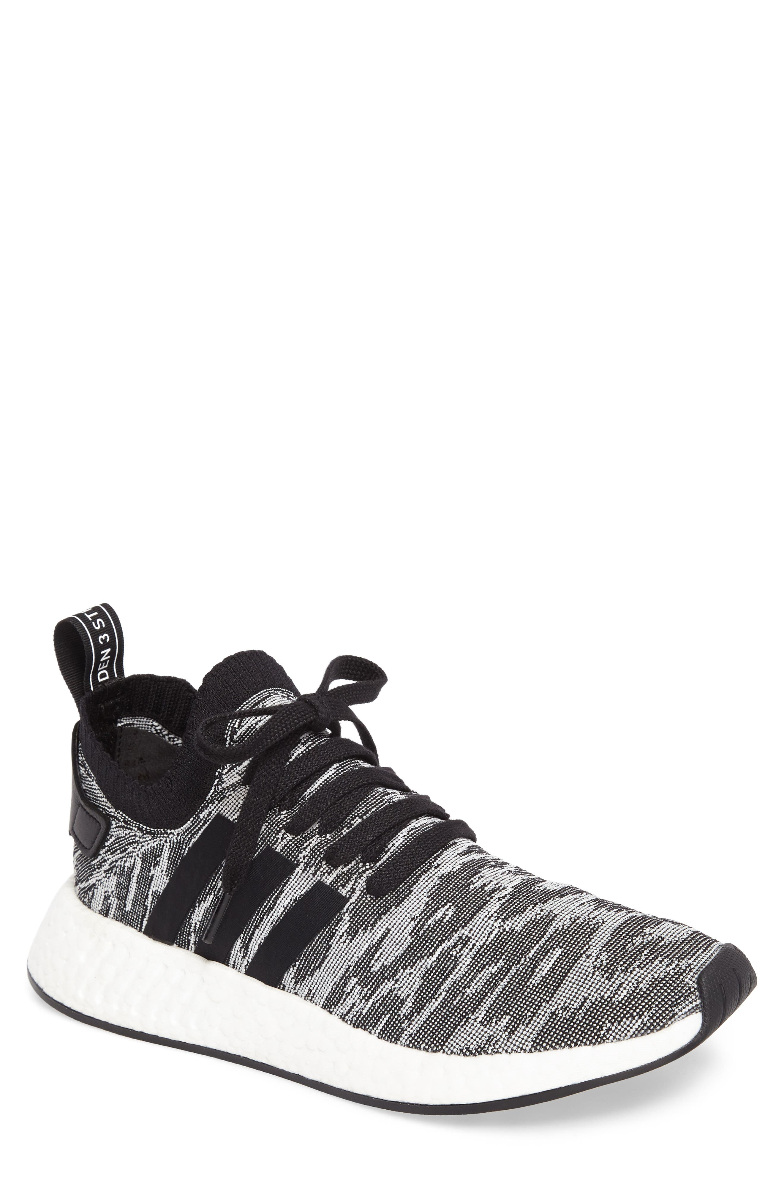 NMD R2 Primeknit Running Shoe,                             Main thumbnail 1, color,                             002