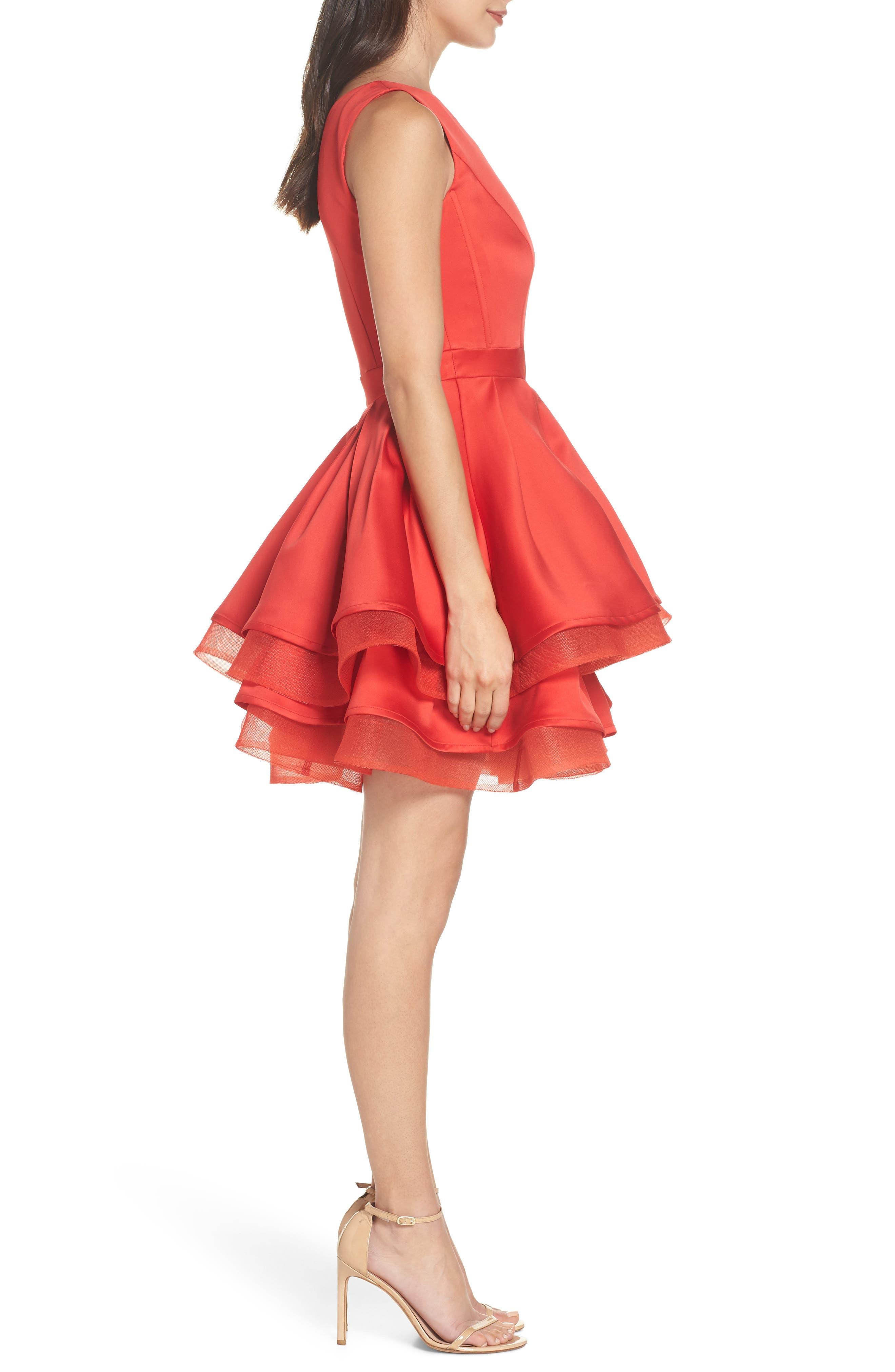 Emmanuel One-Shoulder Party Dress,                             Alternate thumbnail 3, color,                             600