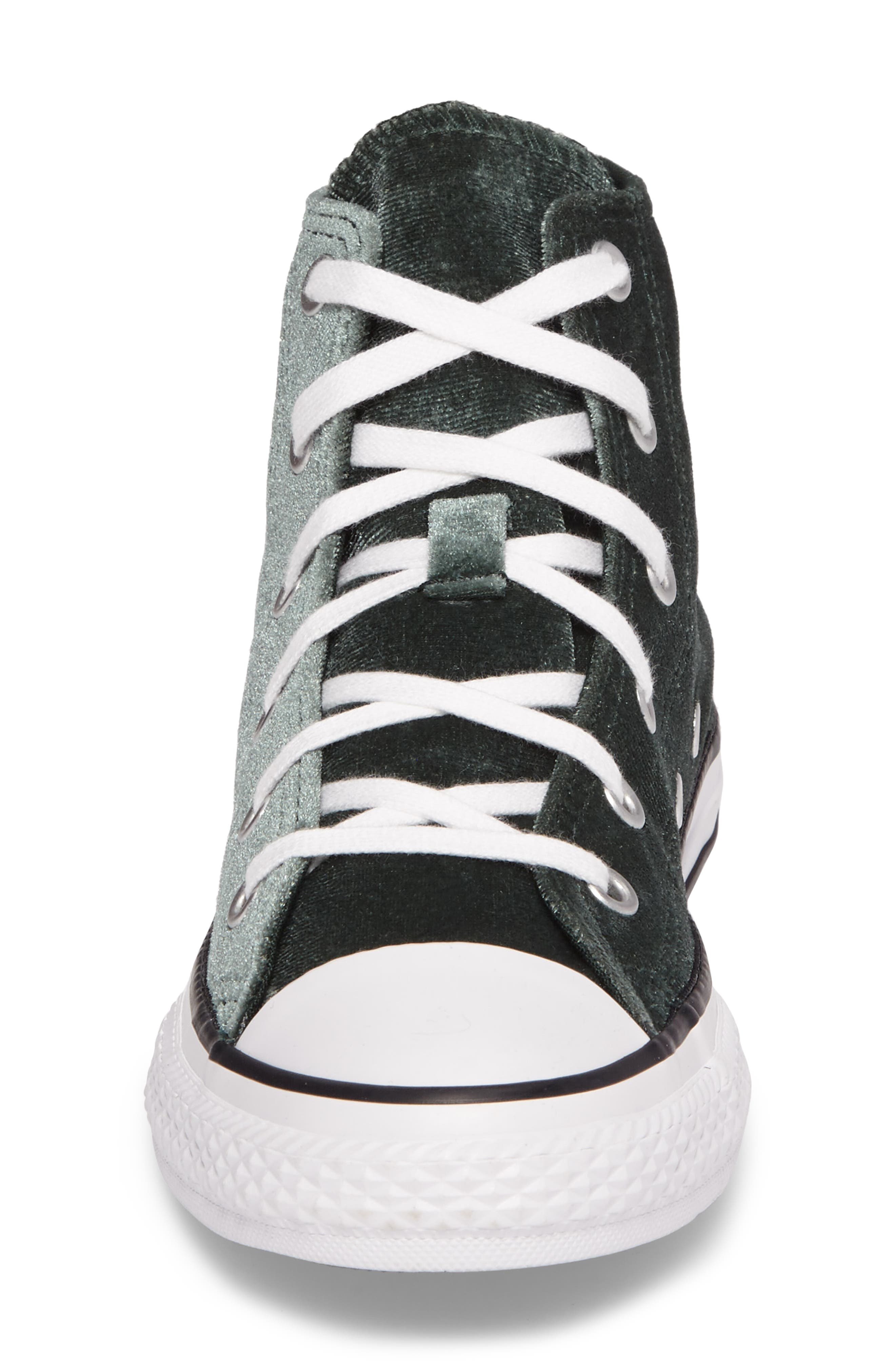 Chuck Taylor<sup>®</sup> All Star<sup>®</sup> Velvet High Top Sneaker,                             Alternate thumbnail 4, color,                             300