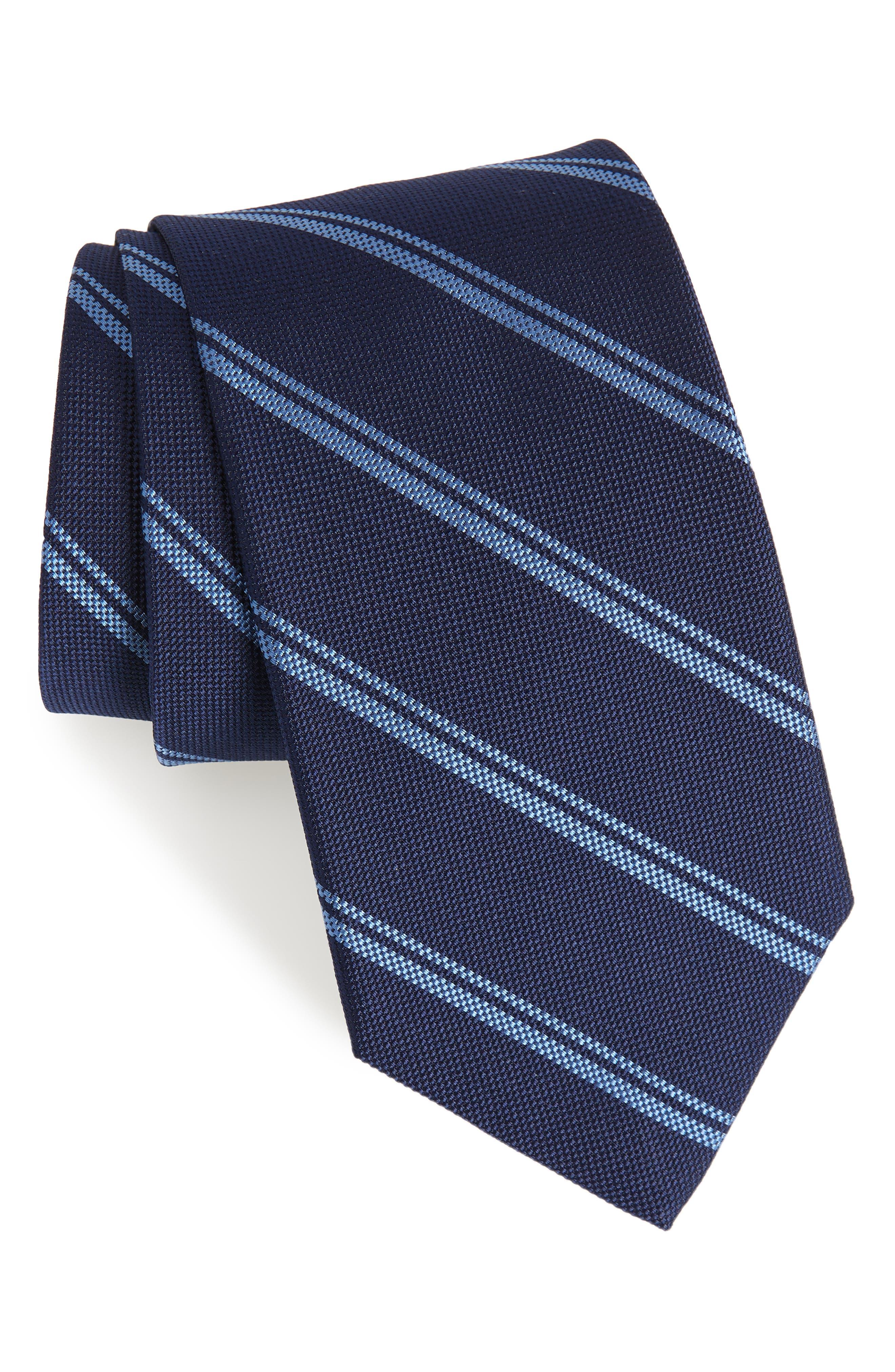 Hartford Stripe Silk Tie,                         Main,                         color, 400