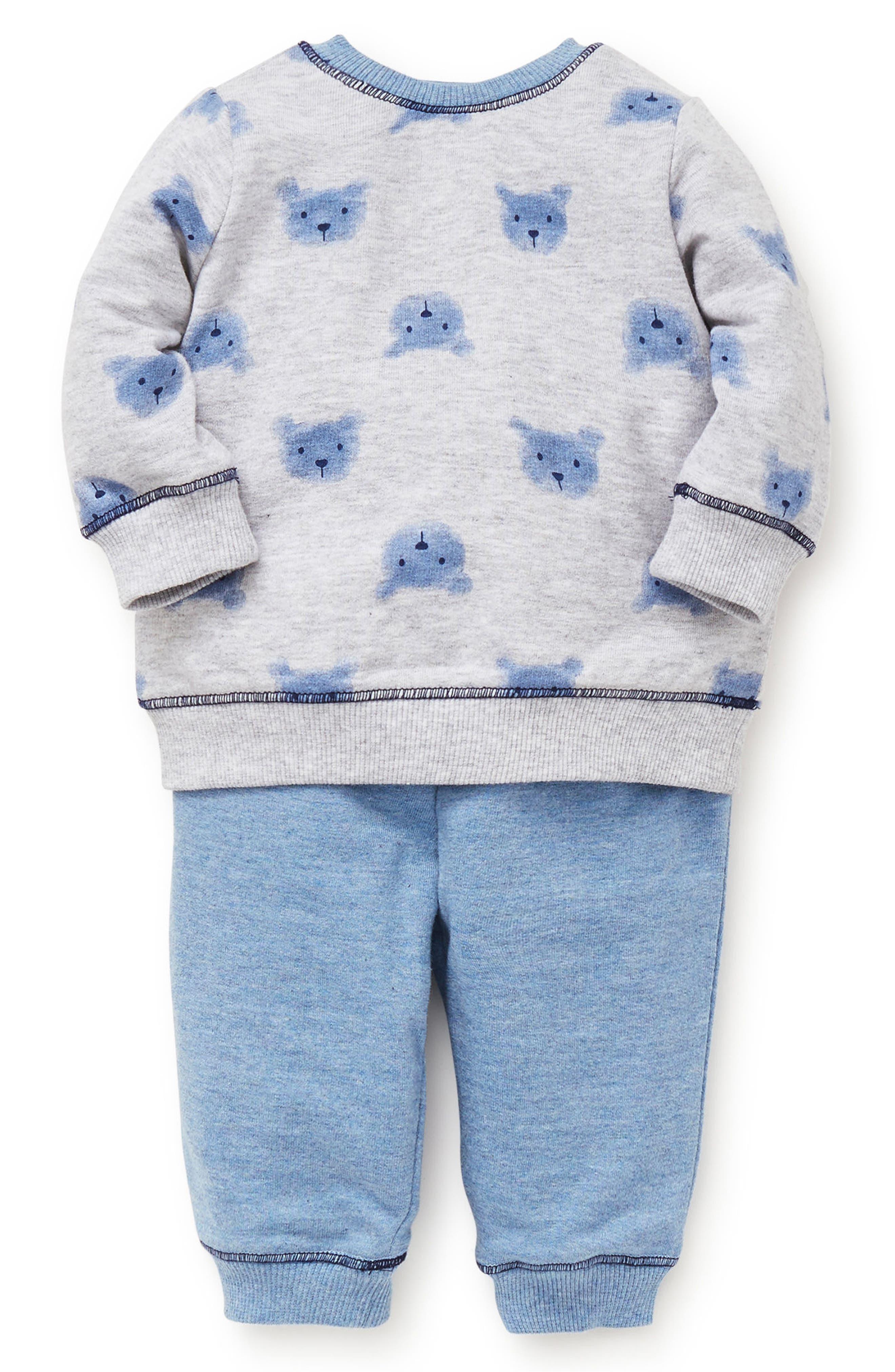 Bears Sweatshirt & Sweatpants Set,                             Main thumbnail 1, color,                             BLUE