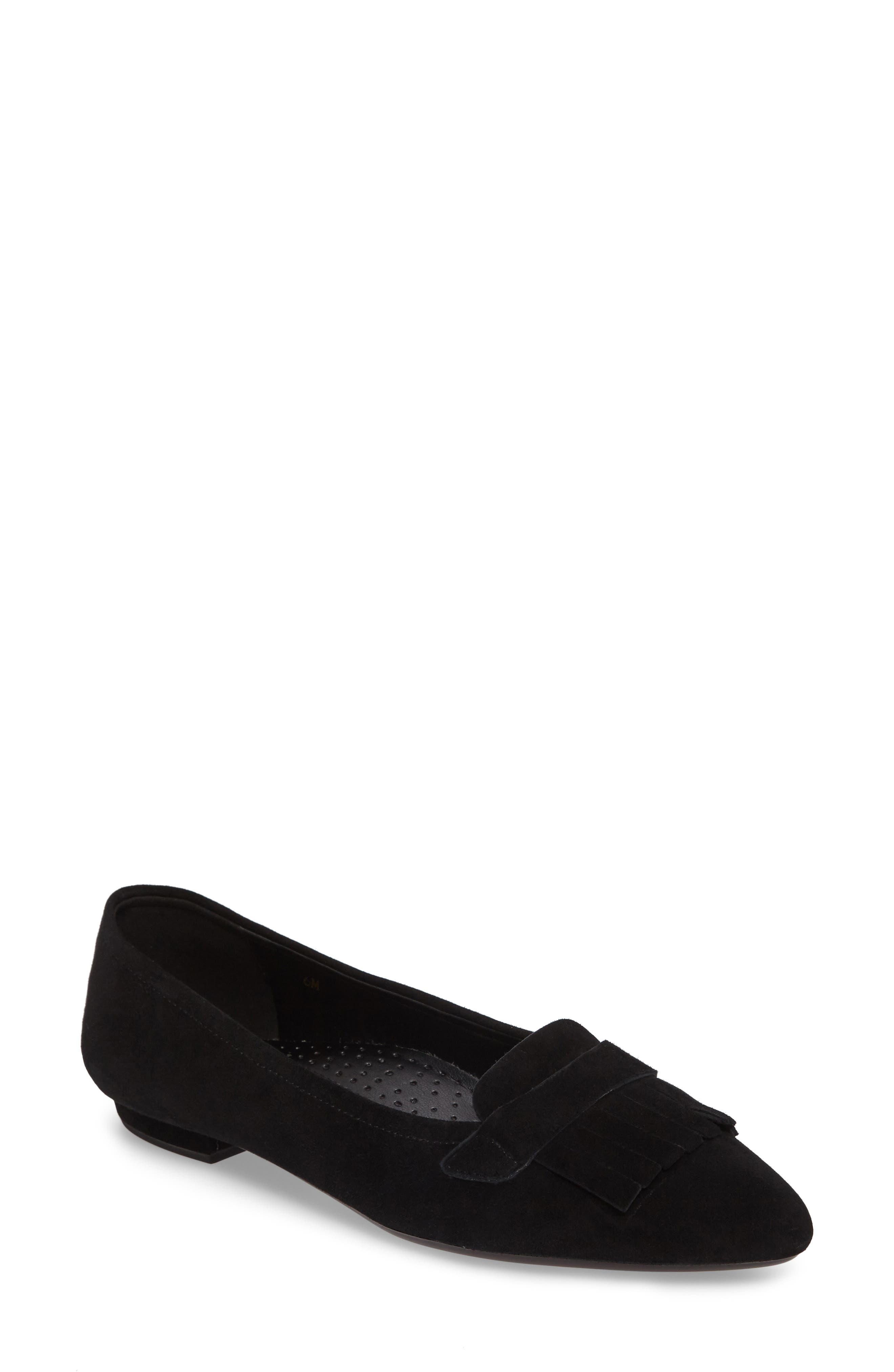 Gaea Loafer Flat,                         Main,                         color, 001