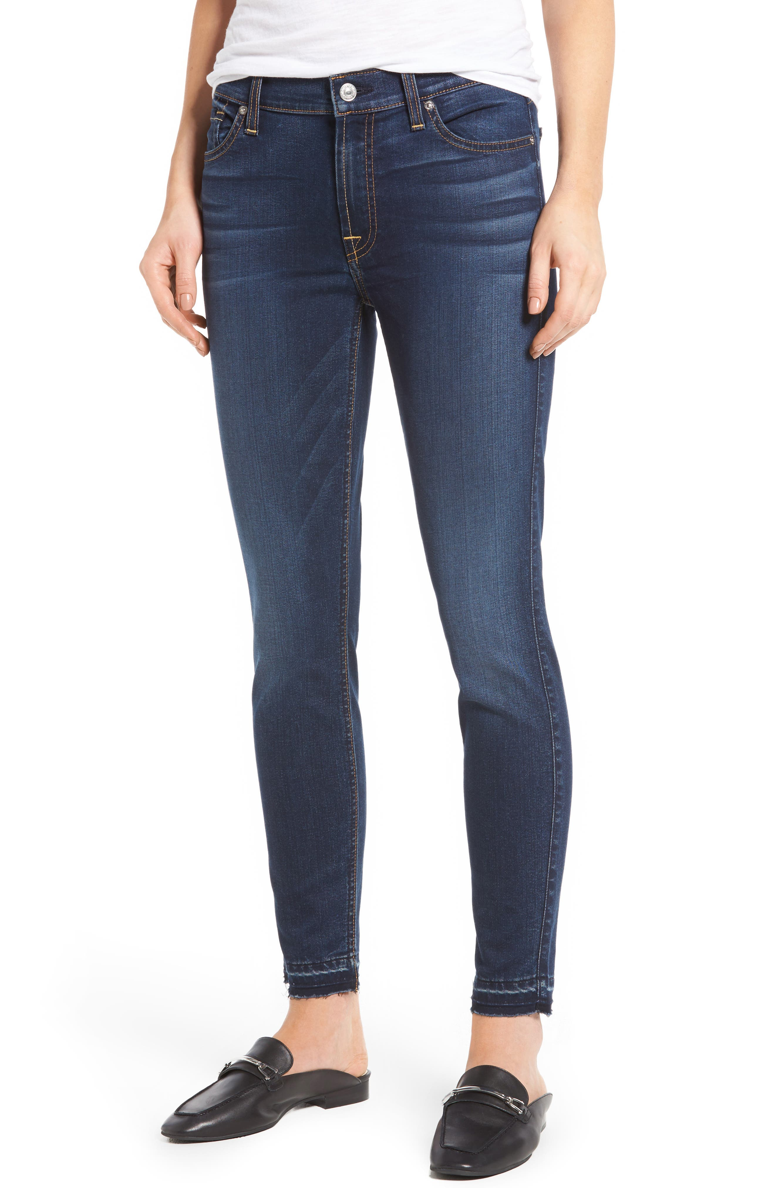 b(air) Released Hem Ankle Skinny Jeans,                             Main thumbnail 1, color,                             400