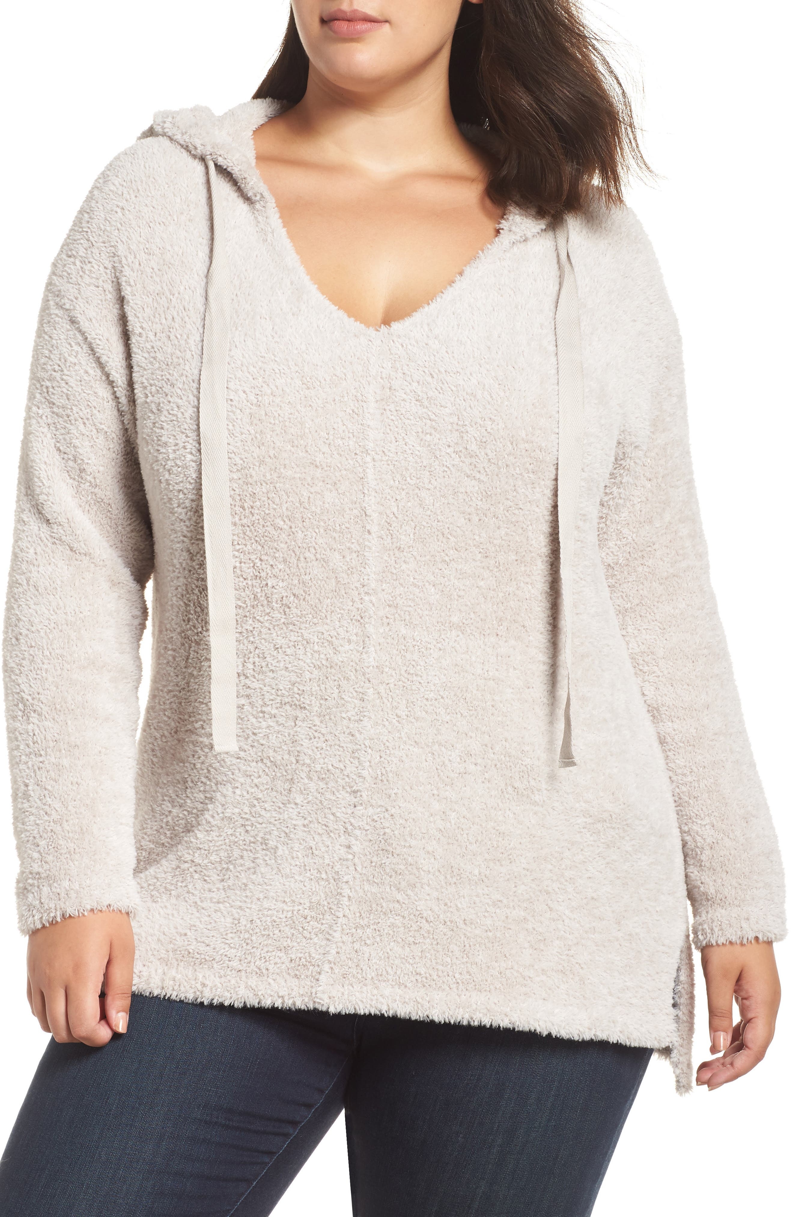Off-Duty Sweater Hoodie,                         Main,                         color, GREY VEIL