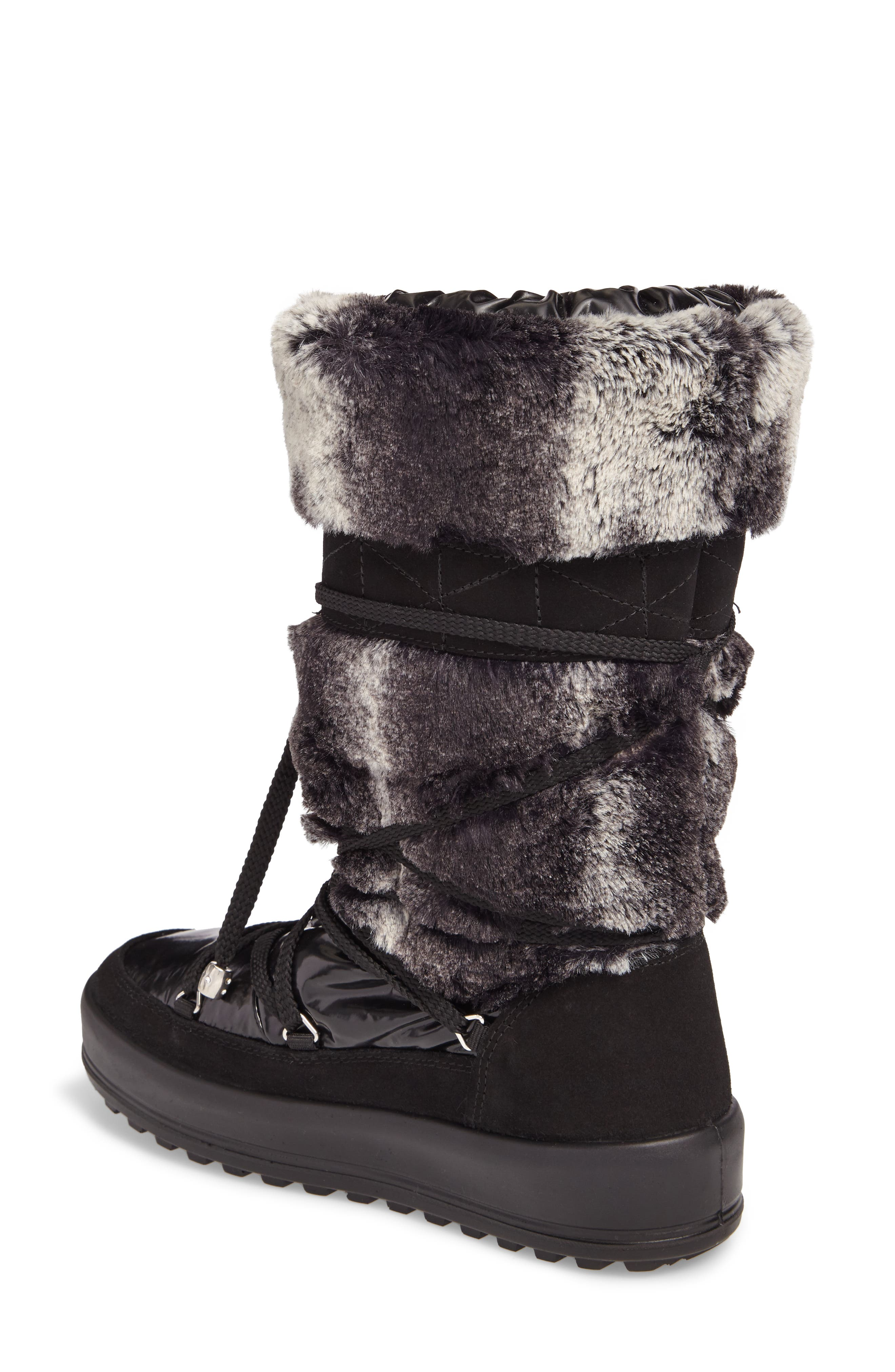 Kitzbuhel Faux Fur Waterproof Quilted Boot,                             Alternate thumbnail 2, color,                             004
