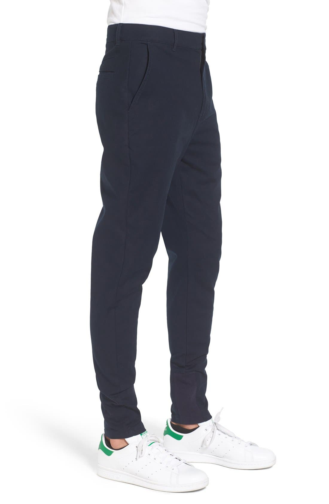 'Sharpshot' Slouchy Skinny Fit Chinos,                             Alternate thumbnail 3, color,                             410