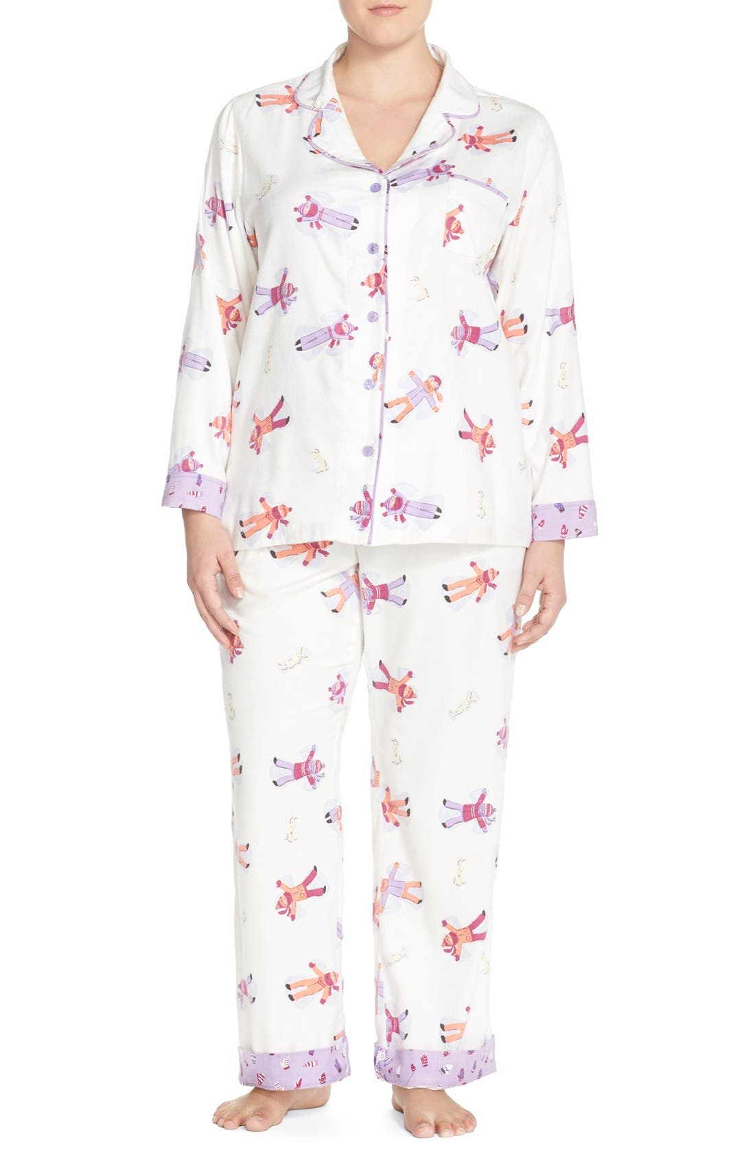 MUNKI MUNKI MunkiMunkiFlannel Pajamas, Main, color, 113