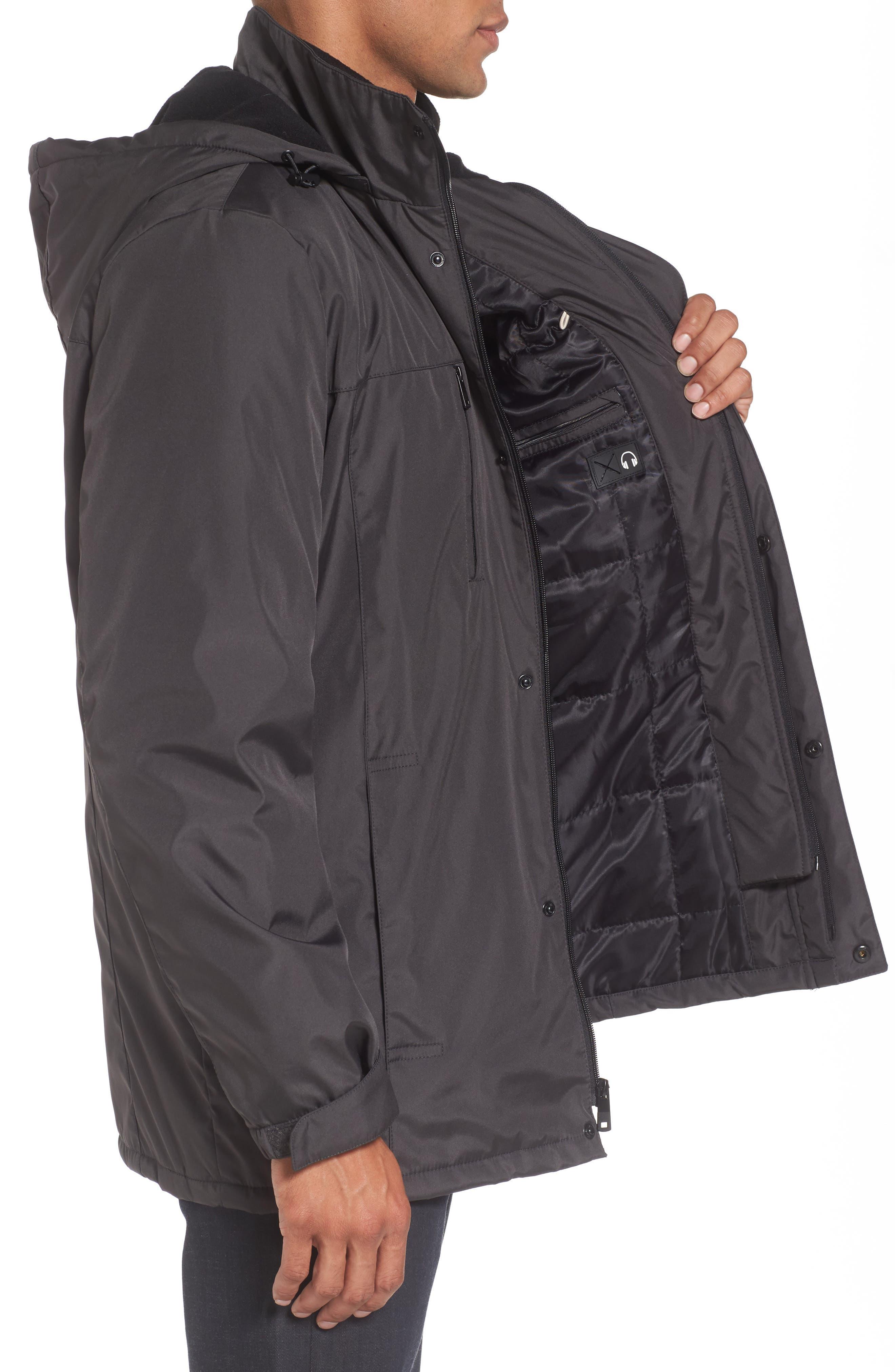 Hooded Jacket with Inset Fleece Bib,                             Alternate thumbnail 10, color,