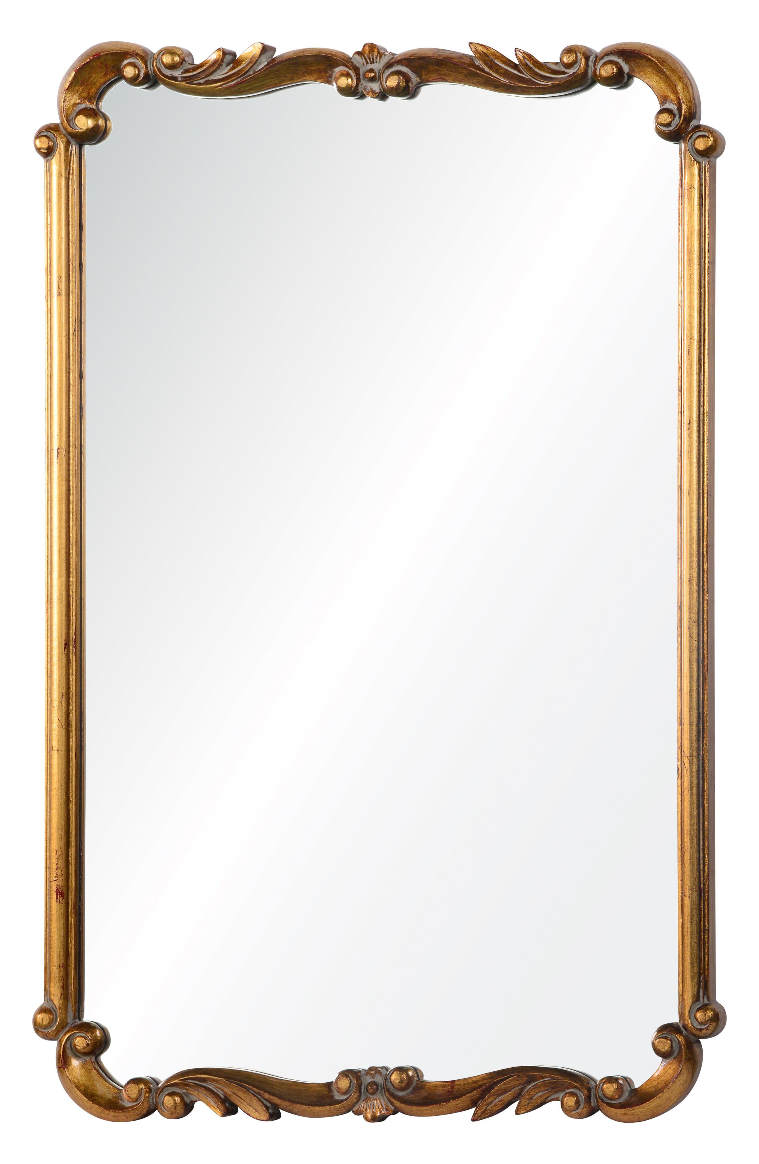 Antiqued Wall Mirror,                             Main thumbnail 1, color,                             METALLIC GOLD