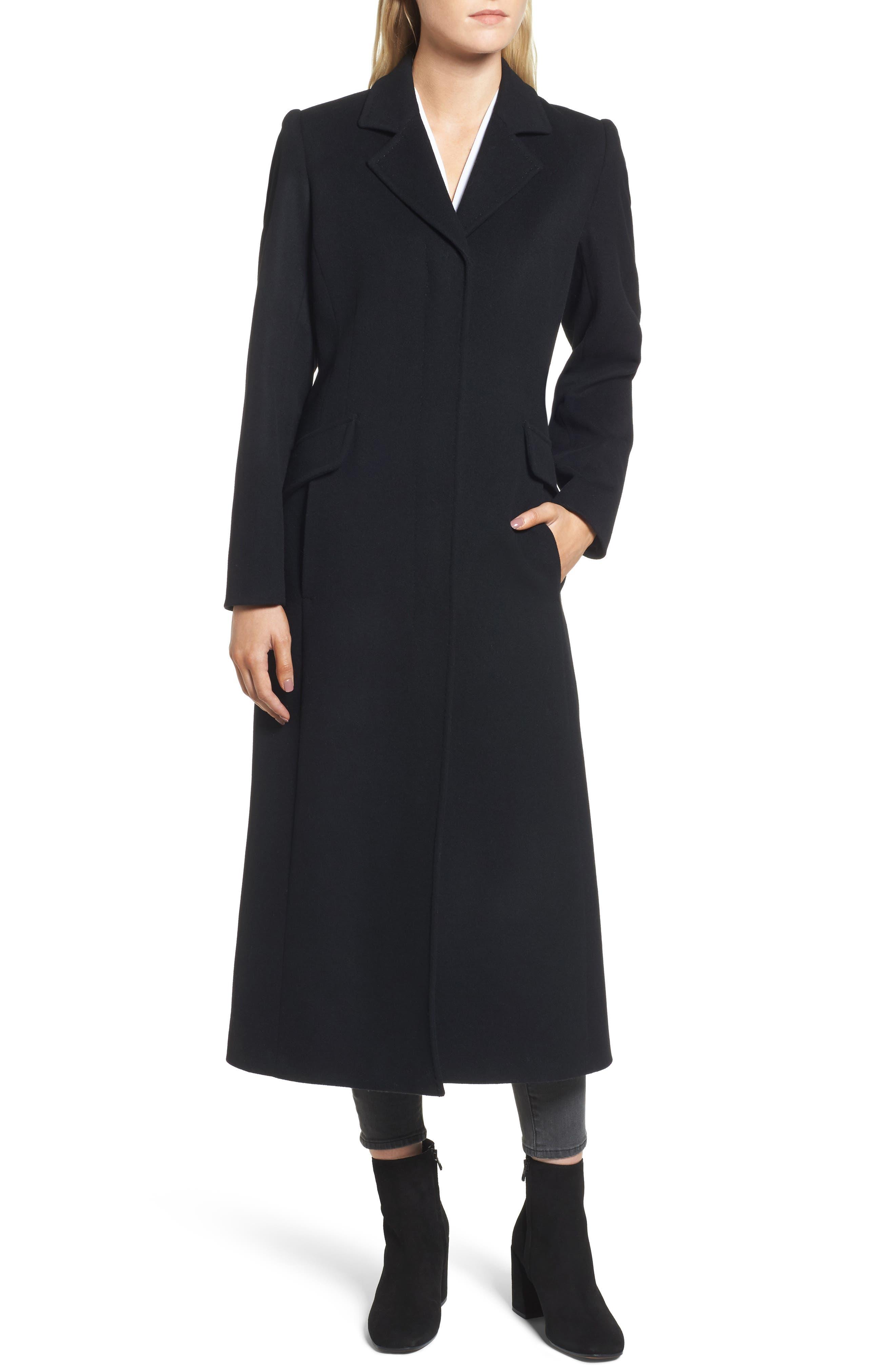 Emi Wool Blend Coat,                             Alternate thumbnail 4, color,                             001